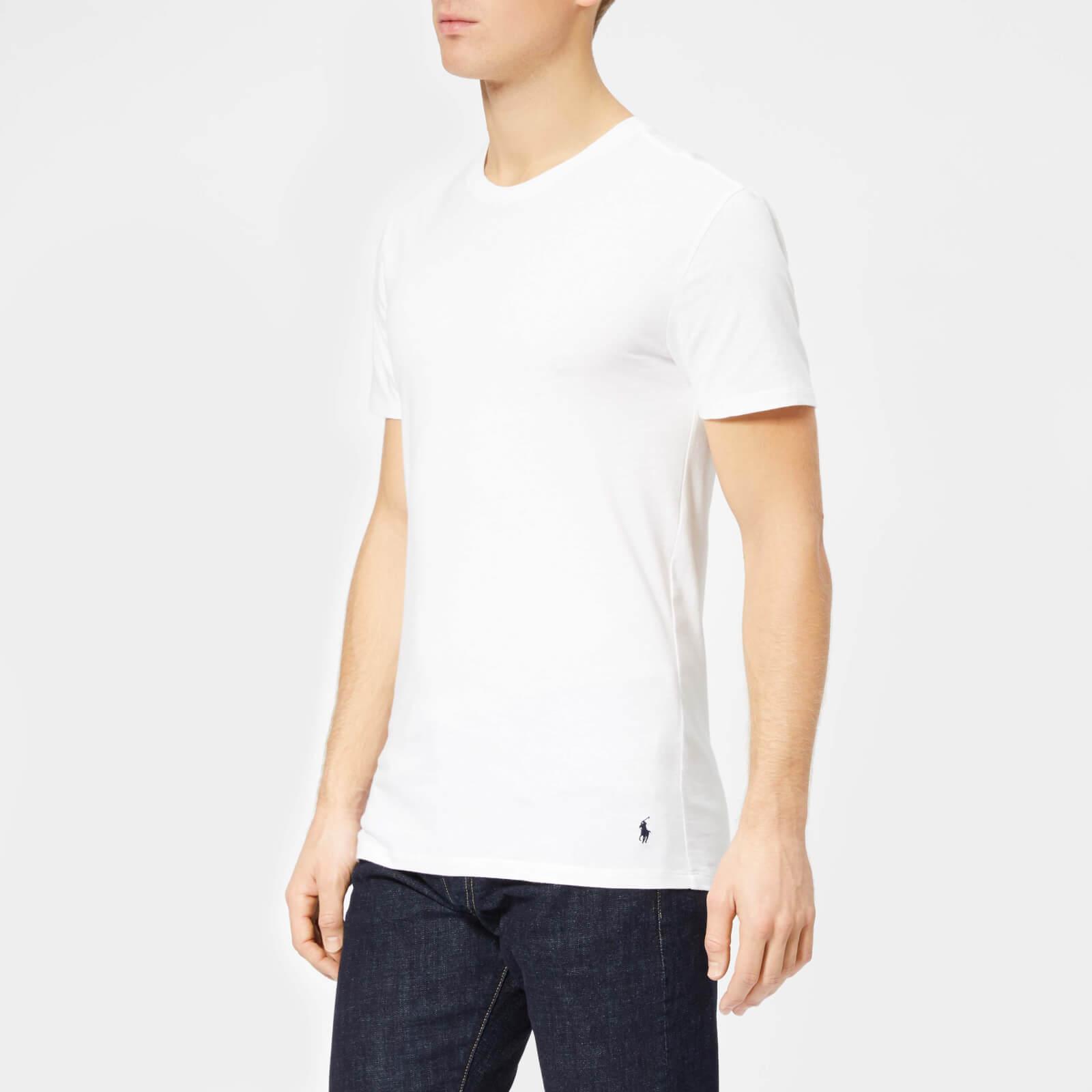 1031cd6ea2 Polo Ralph Lauren Men's 3 Pack Short Sleeve Crew Neck T-Shirt -  White/Black/Andover Heather