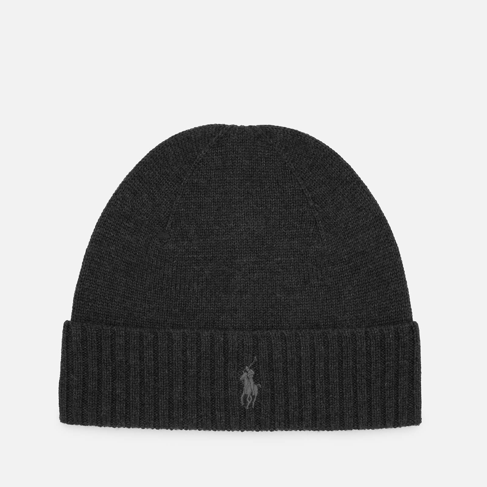4e1419cbc Polo Ralph Lauren Men S Merino Wool Beanie Hat Dark Charcoal