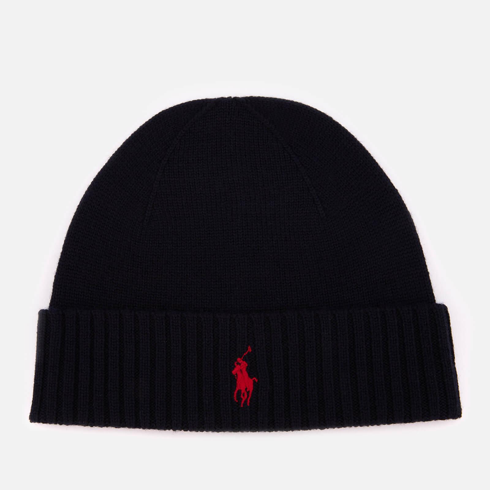122204716f8 Polo Ralph Lauren Men s Merino Wool Beanie Hat - Hunter Navy - Free UK  Delivery over £50