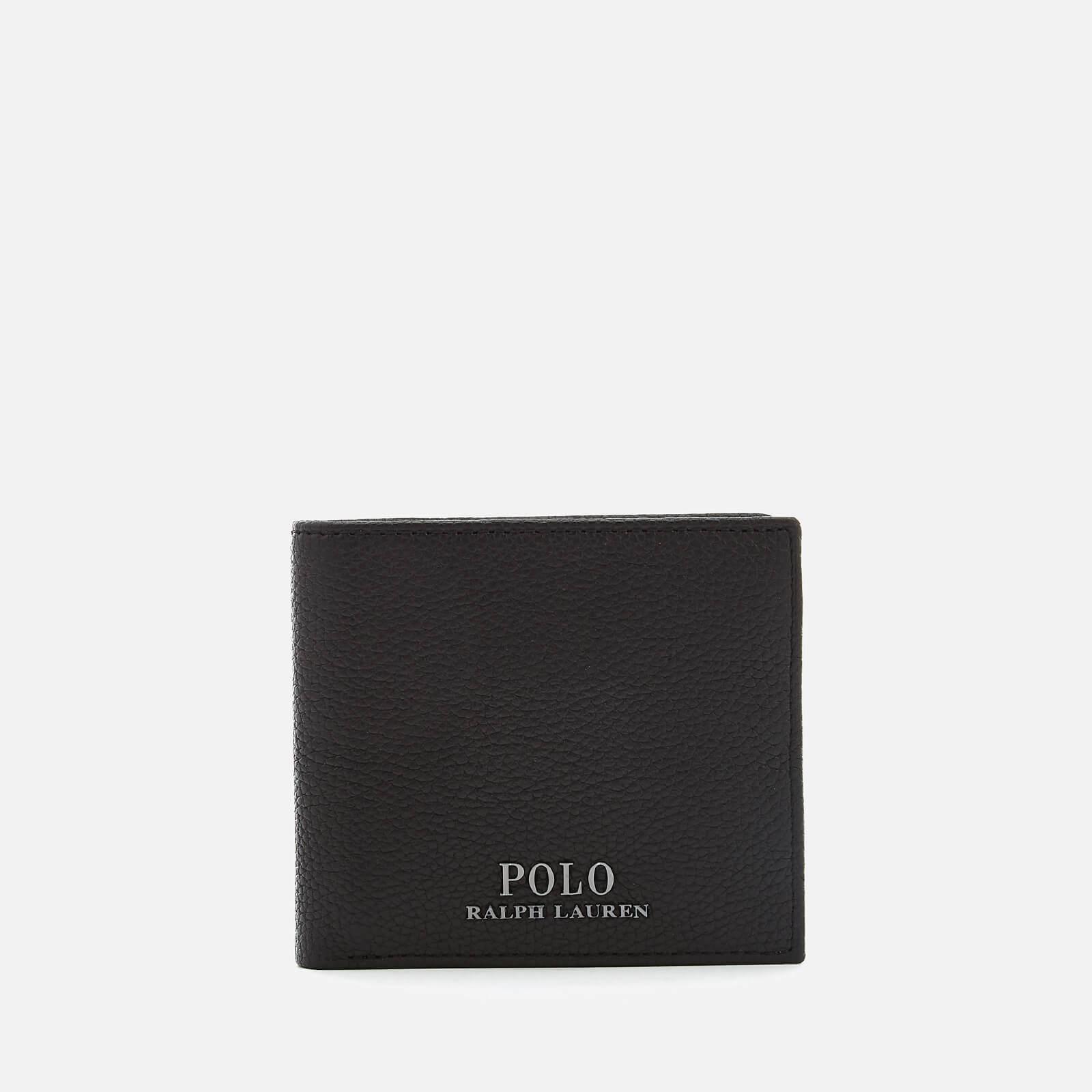 677a1342c330 Polo Ralph Lauren Men's PRL Leather Billfold Wallet - Black - Free ...
