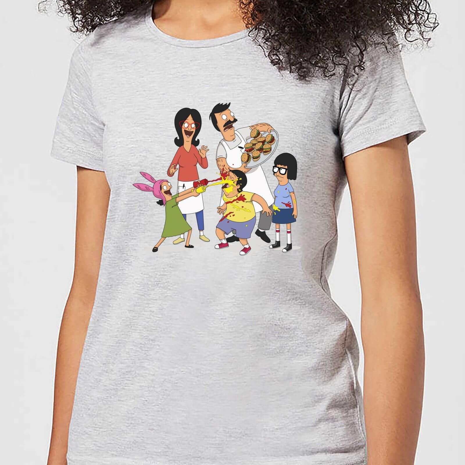 142e3febb Bobs Burgers Family Fight Women's T-Shirt - Grey Clothing | Zavvi