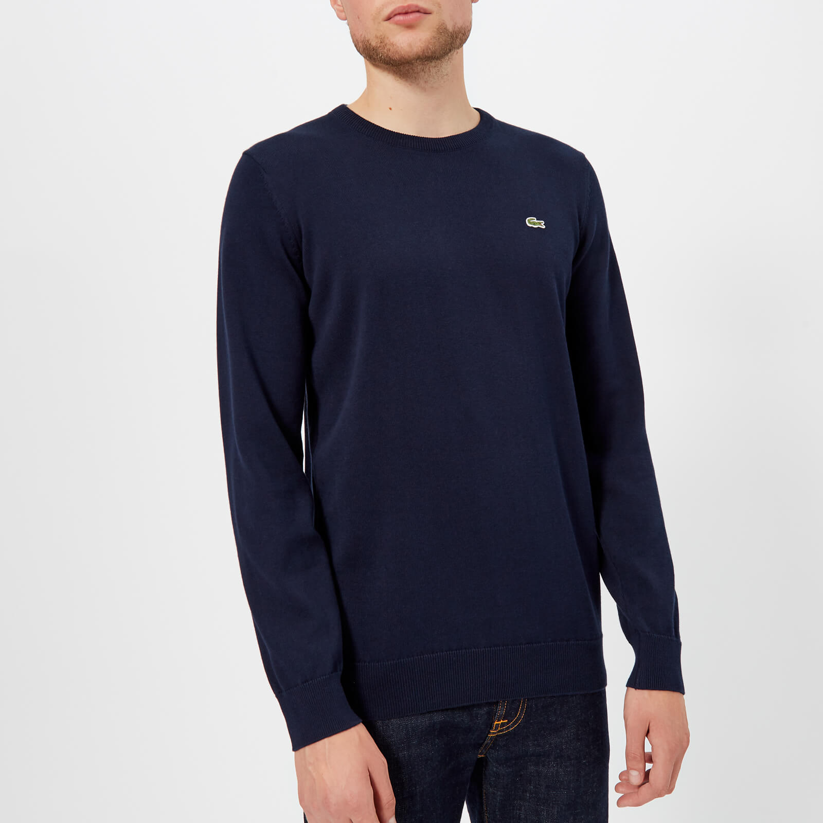 c587ef3ad880 Lacoste Men s Classic Cotton Crew Knit Jumper - Navy Mens Clothing ...