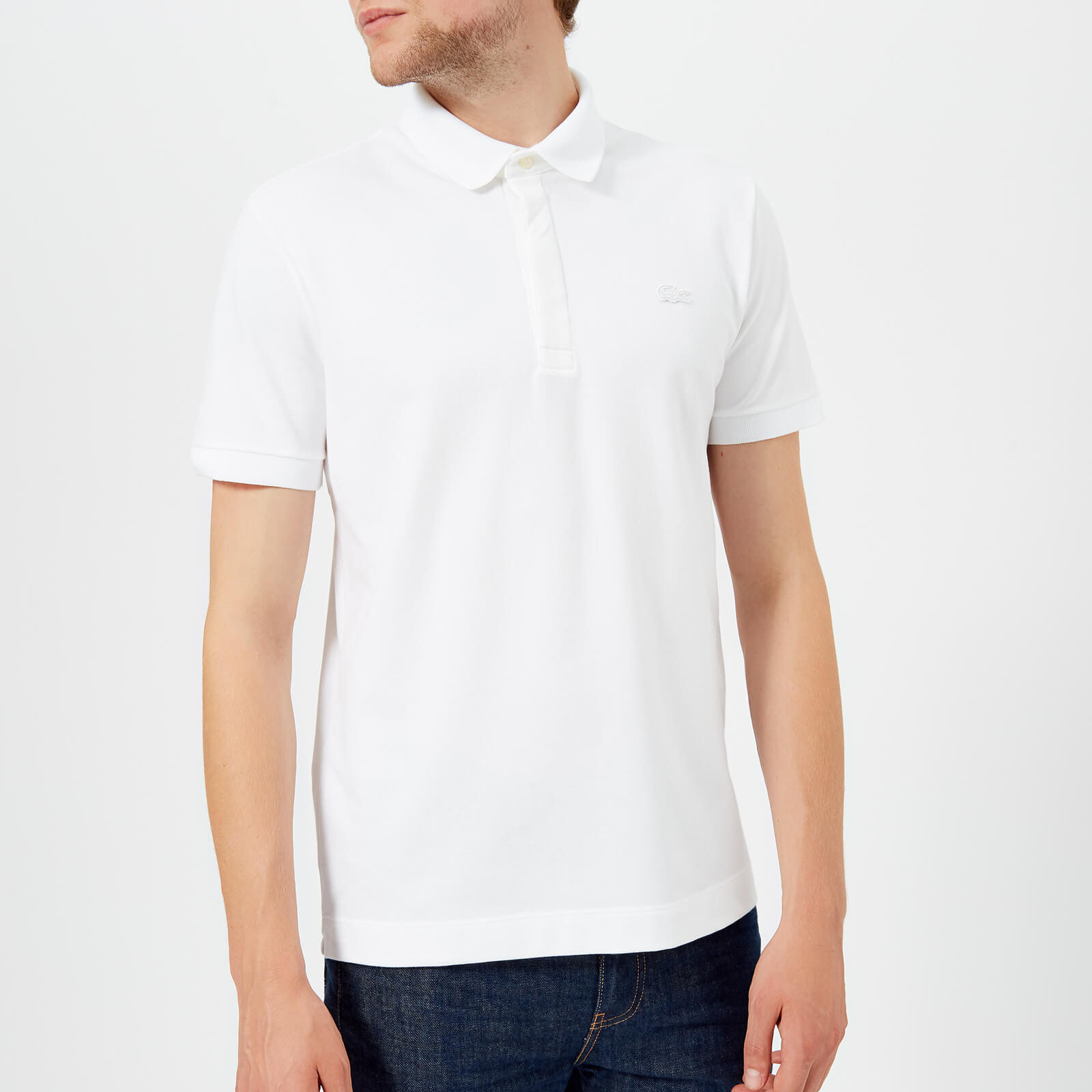 4855a28510 Lacoste Men's Short Sleeve Paris Polo Shirt - White Clothing | TheHut.com