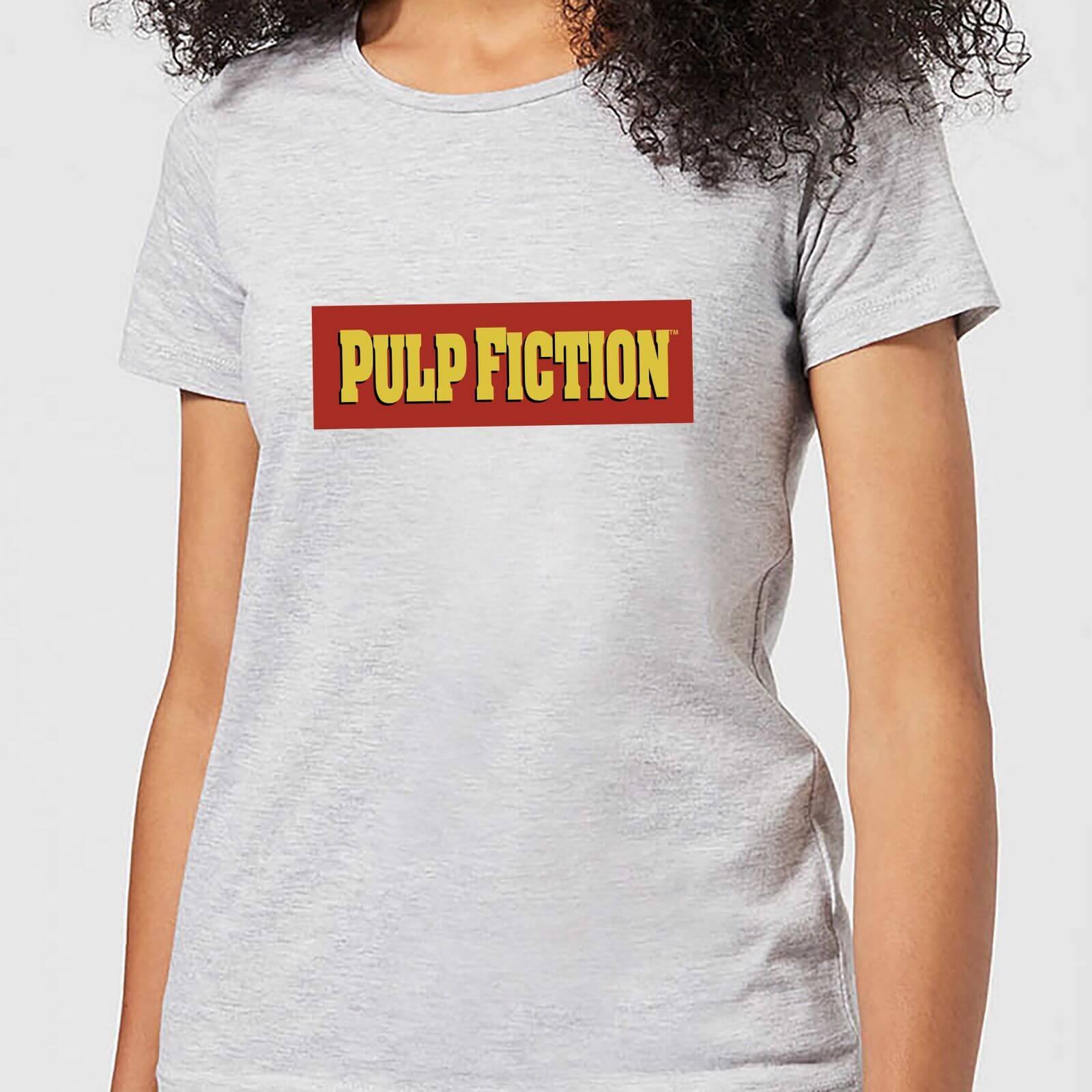 Pulp Fiction Logo Damen T Shirt Grau Bekleidung Zavvide