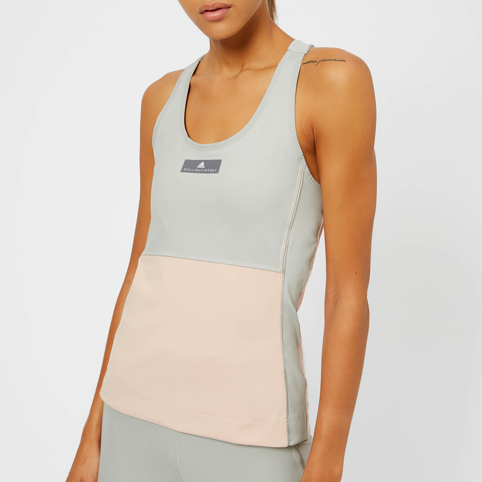 4b1a7607016 adidas by Stella McCartney Women s Yoga Comfort Tank Top - Pearl Rose Stone  - Free UK Delivery over £50