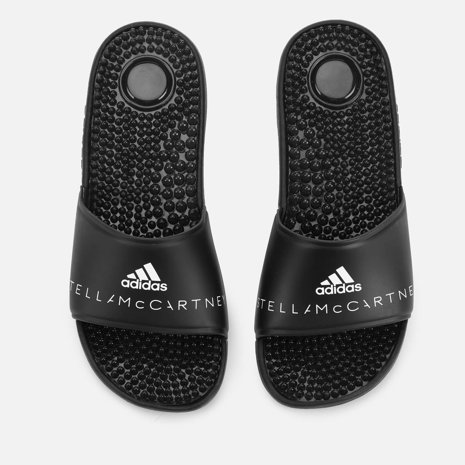 3d3035f0ba8d adidas by Stella McCartney Women s Adissage Slide Sandals - Core  Black White - Free UK Delivery over £50