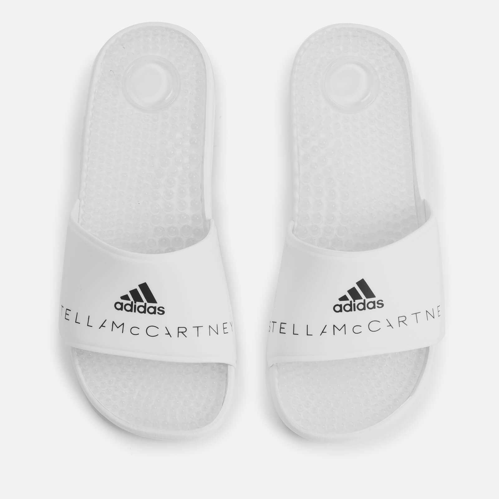3682279a3 adidas by Stella McCartney Women s Adissage Slide Sandals - White Black -  Free UK Delivery over £50