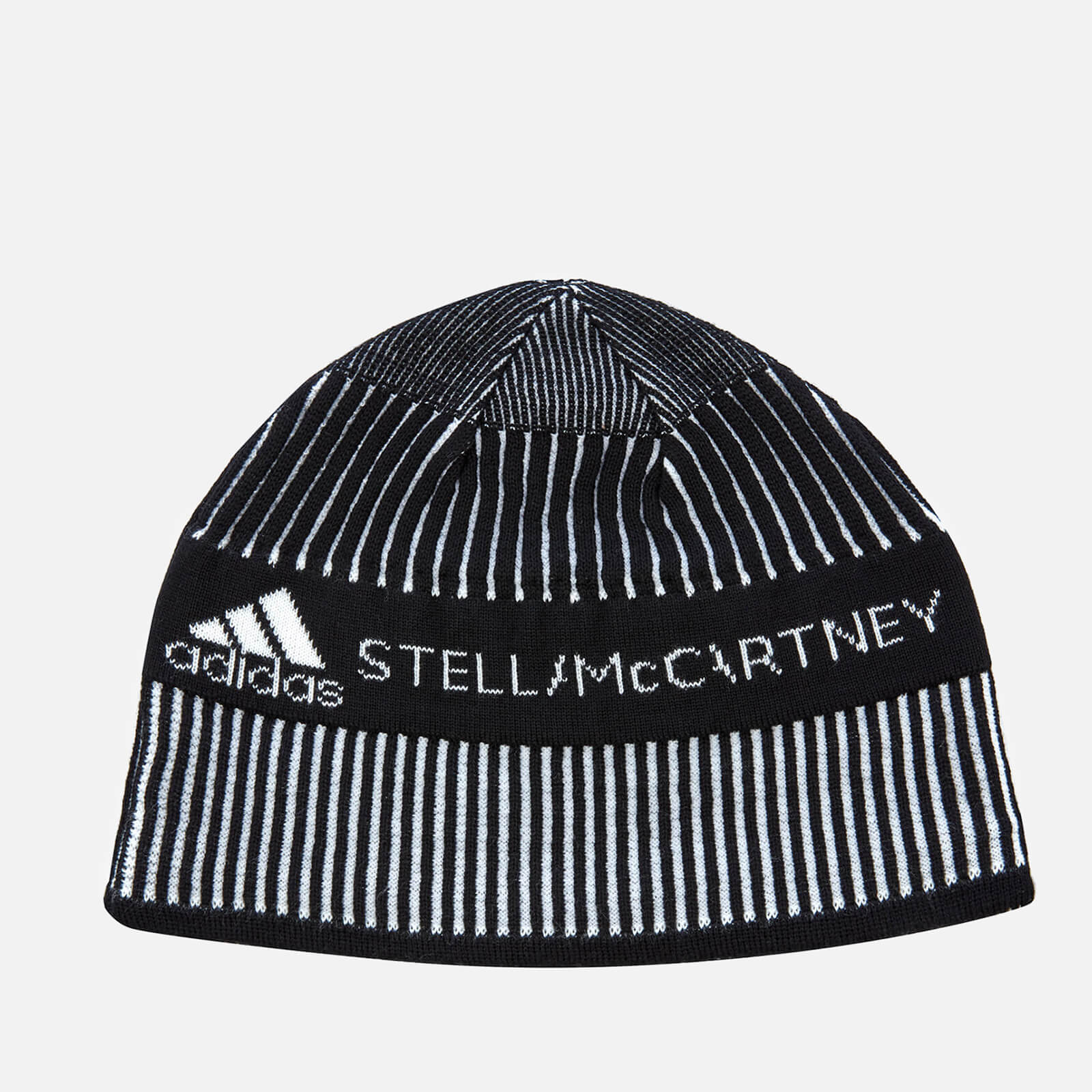 2b4e17bbed4b7 adidas by Stella McCartney Women s Run Beanie Hat - Black White - Free UK  Delivery over £50