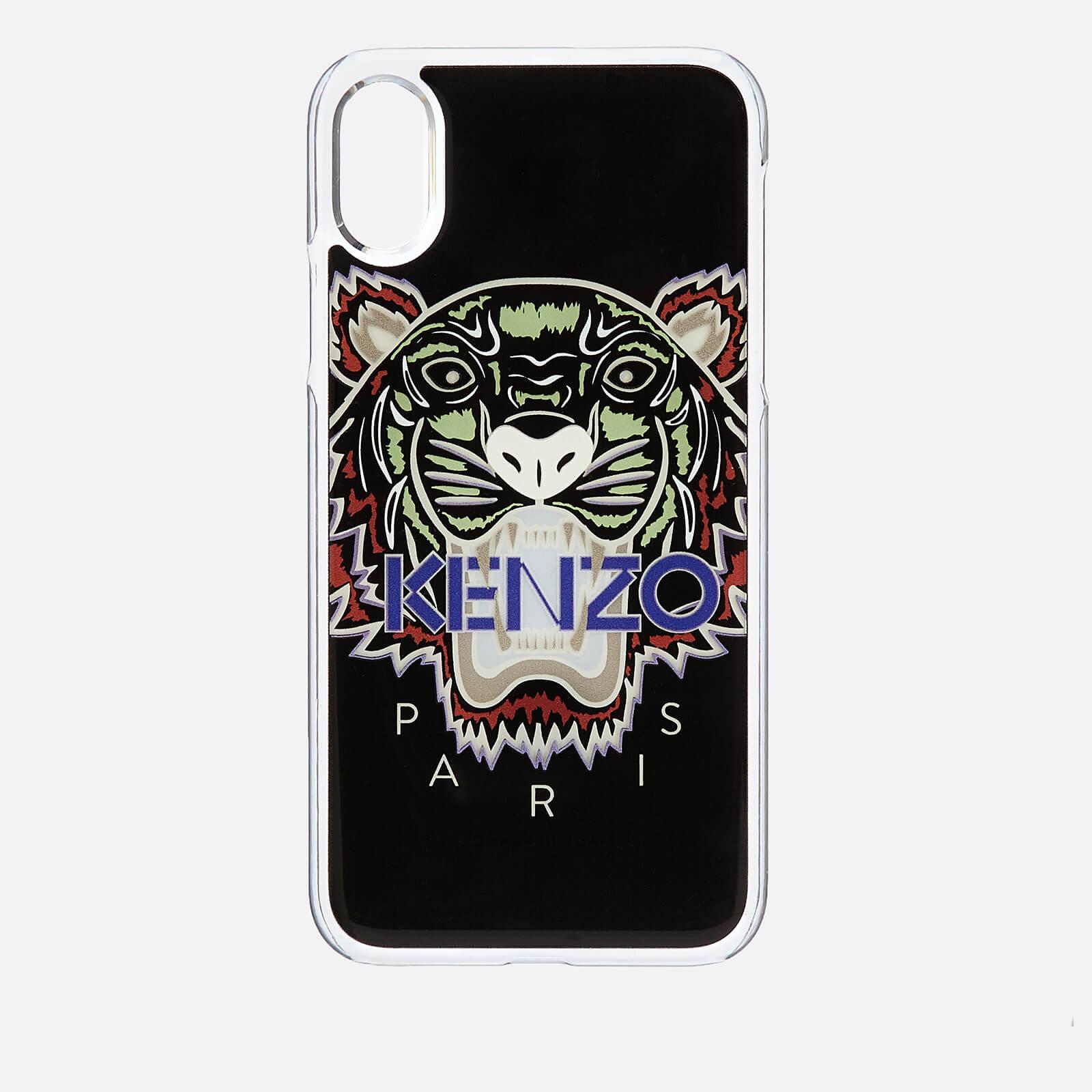 fcc65c7c25 KENZO Men's Tiger Silicone iPhone X Case - Black