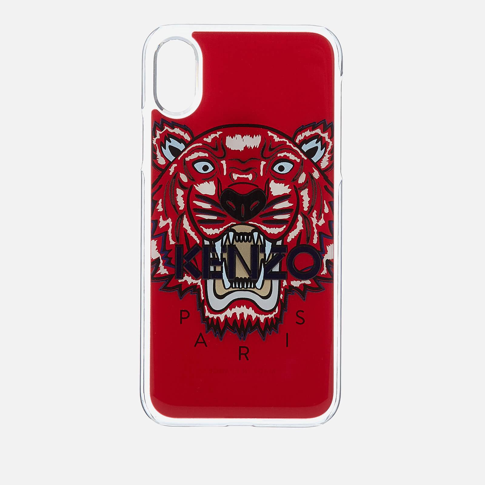 932d966652 KENZO Men's Tiger Silicone iPhone X Case - Medium Red
