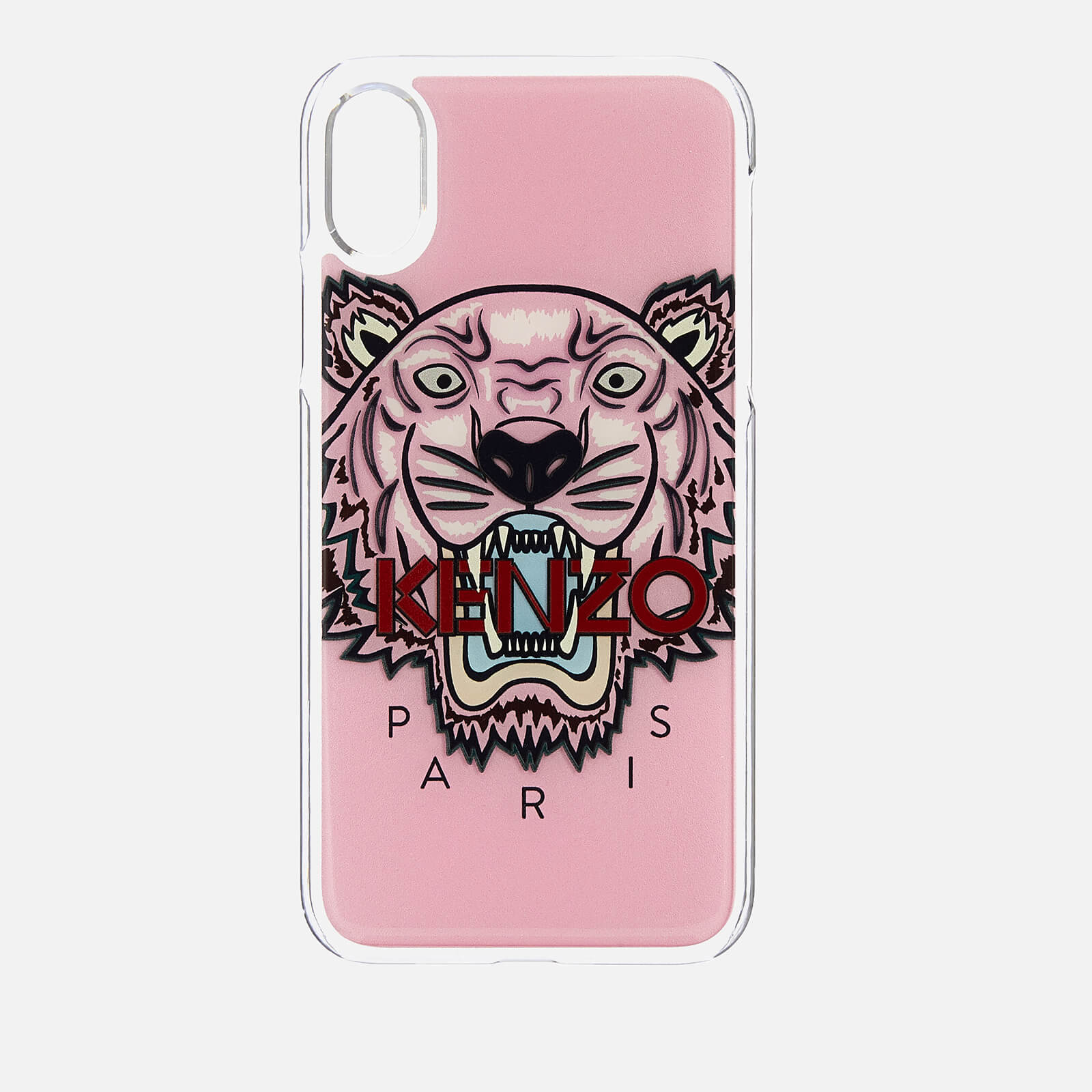 0bd707987d KENZO Men's Tiger Silicone iPhone X Case - Faded Pink