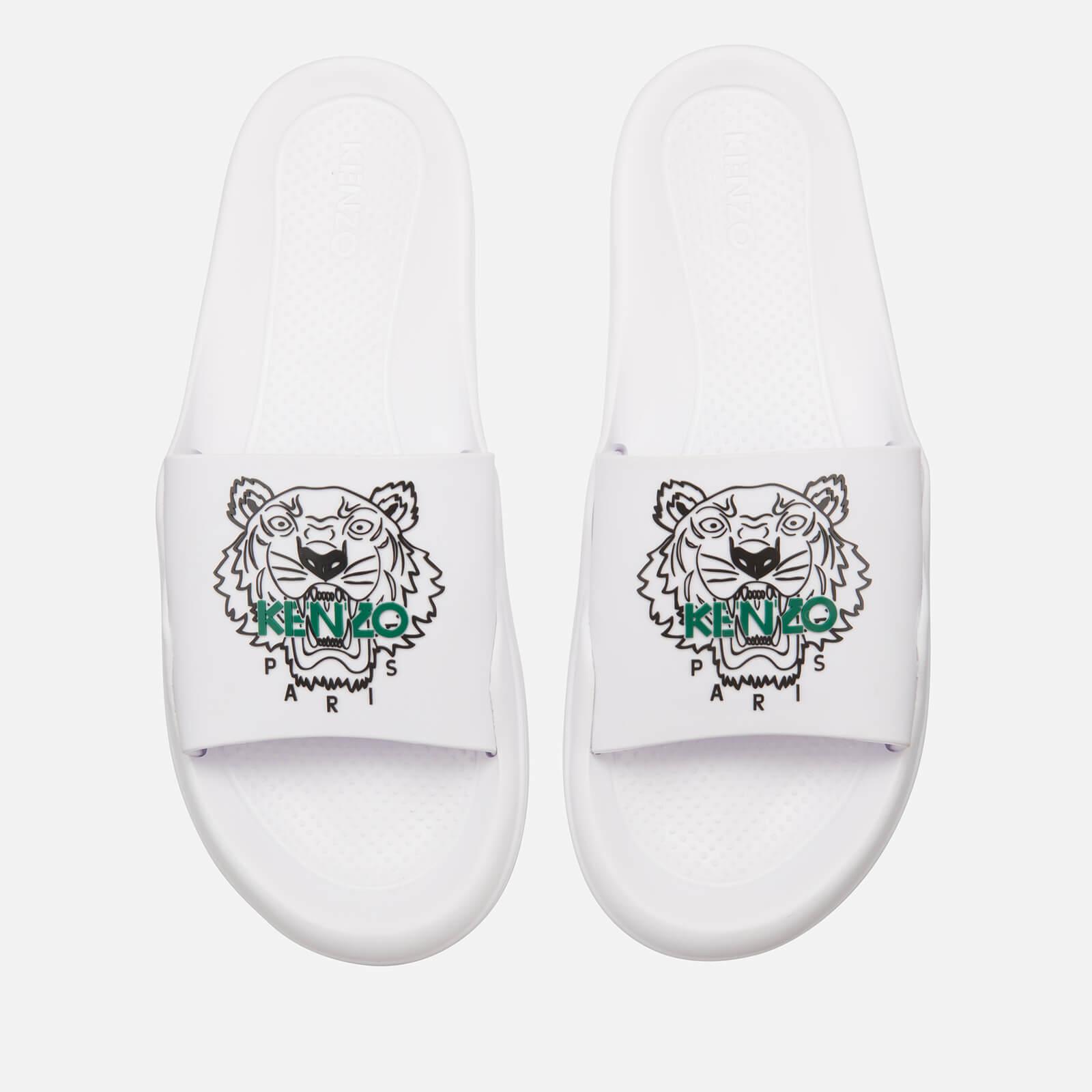8f5bf6611 KENZO Men's Tiger Slide Sandals - White - Free UK Delivery over £50