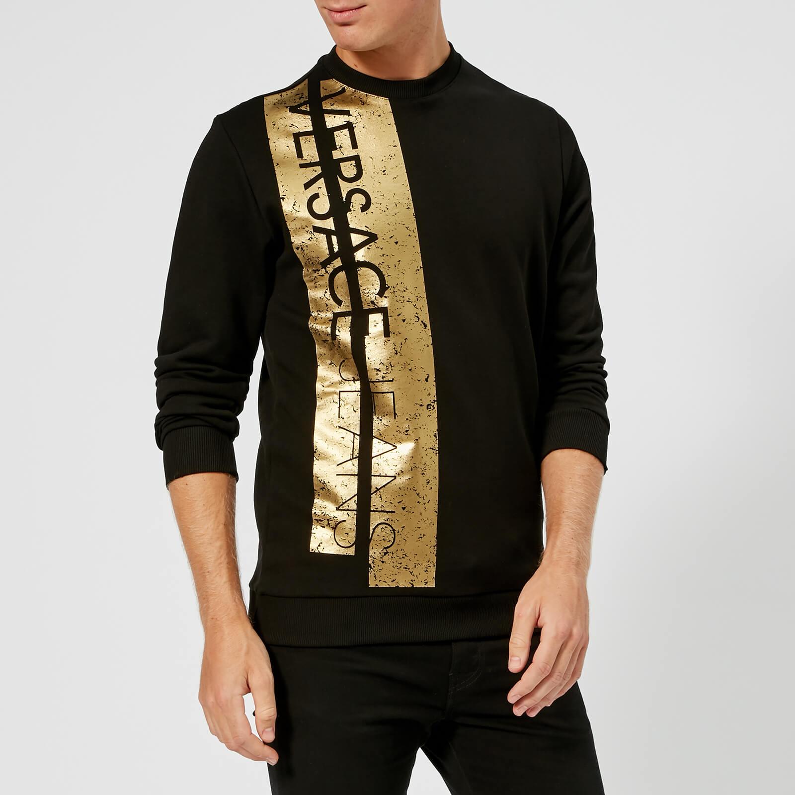 2e09acaaec8 Versace Jeans Men's Foil Print Sweatshirt - Nero