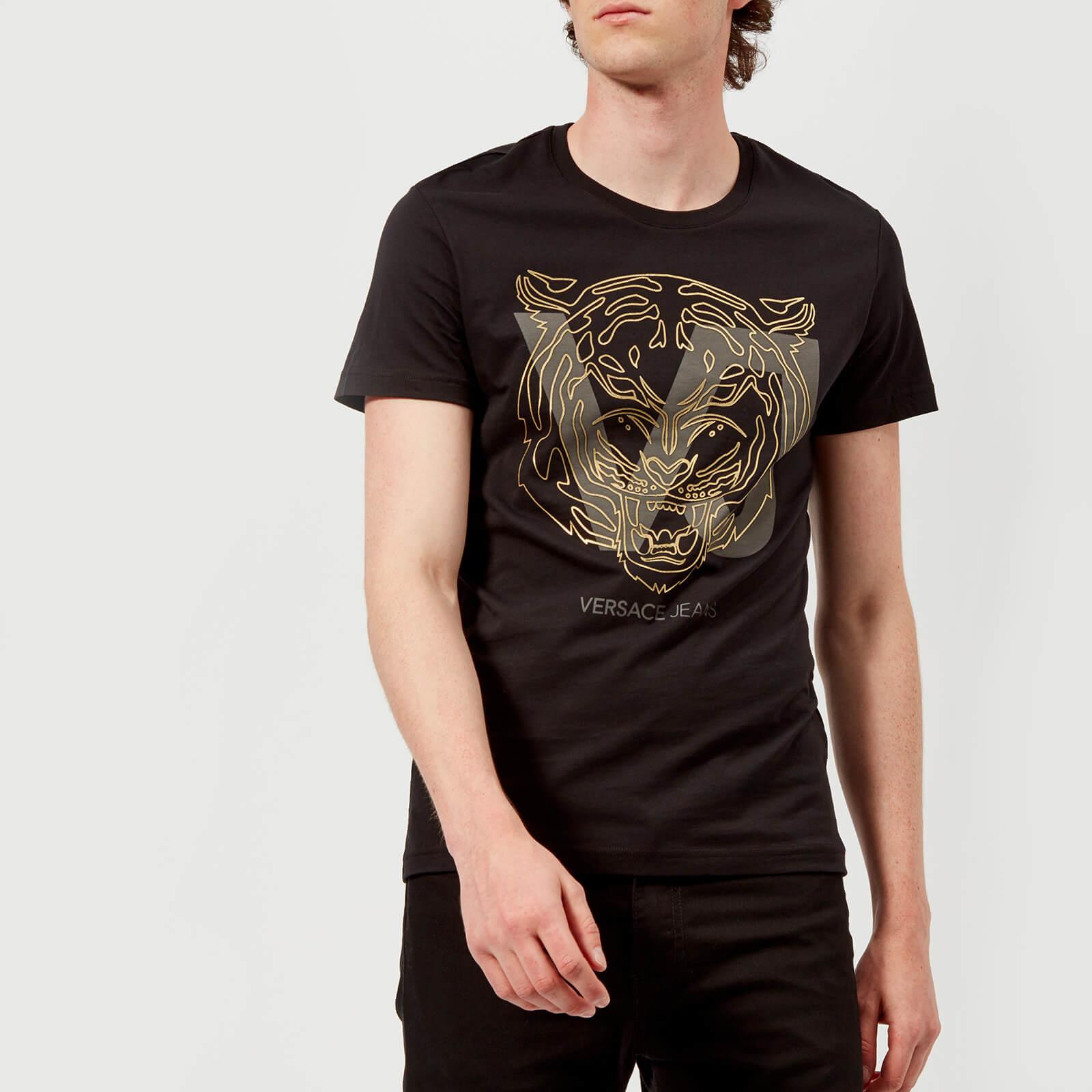 c5d931d3d6e Versace Jeans Men s VJ Tiger T-Shirt - Black Clothing