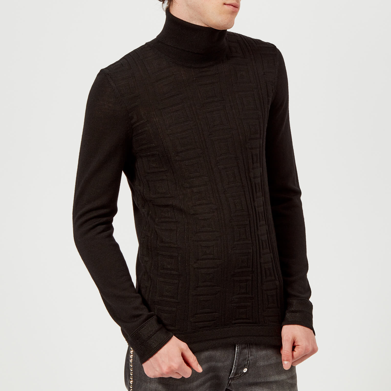 a9709a902a1 Versace Collection Men's Roll Neck Knit Jumper - Nero
