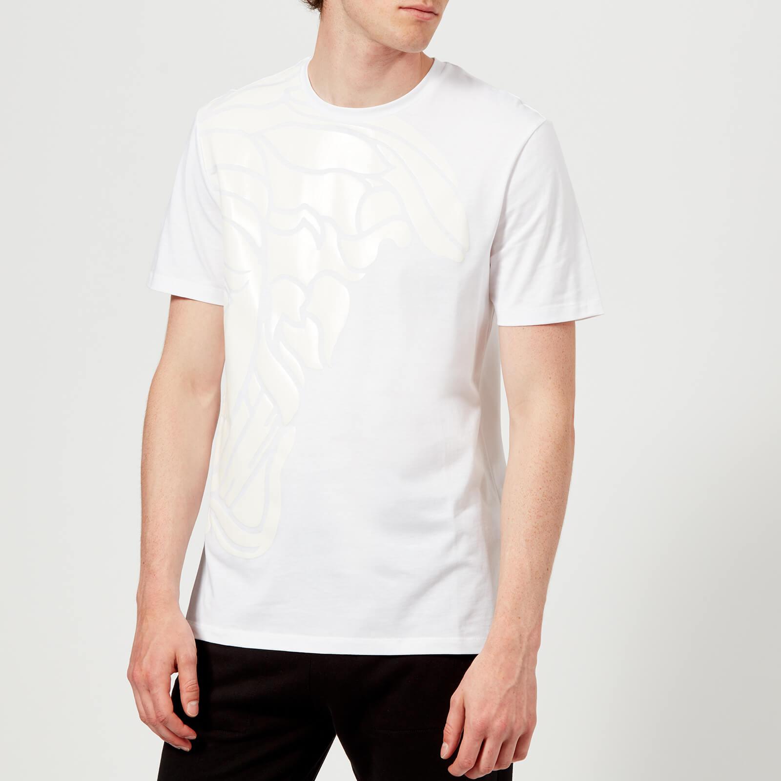 658a06c1ce249 Versace Collection Men s Medusa Shoulder Print T-Shirt - Bianco - Free UK  Delivery over £50