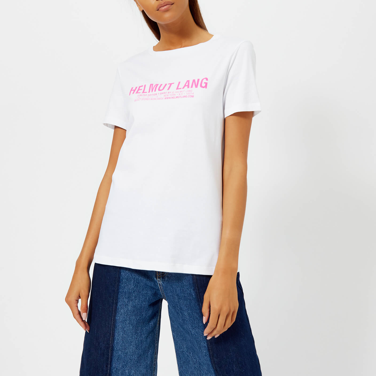 415ab2d8b Helmut Lang Women s Logo Baby T-Shirt - White Gum - Free UK Delivery ...