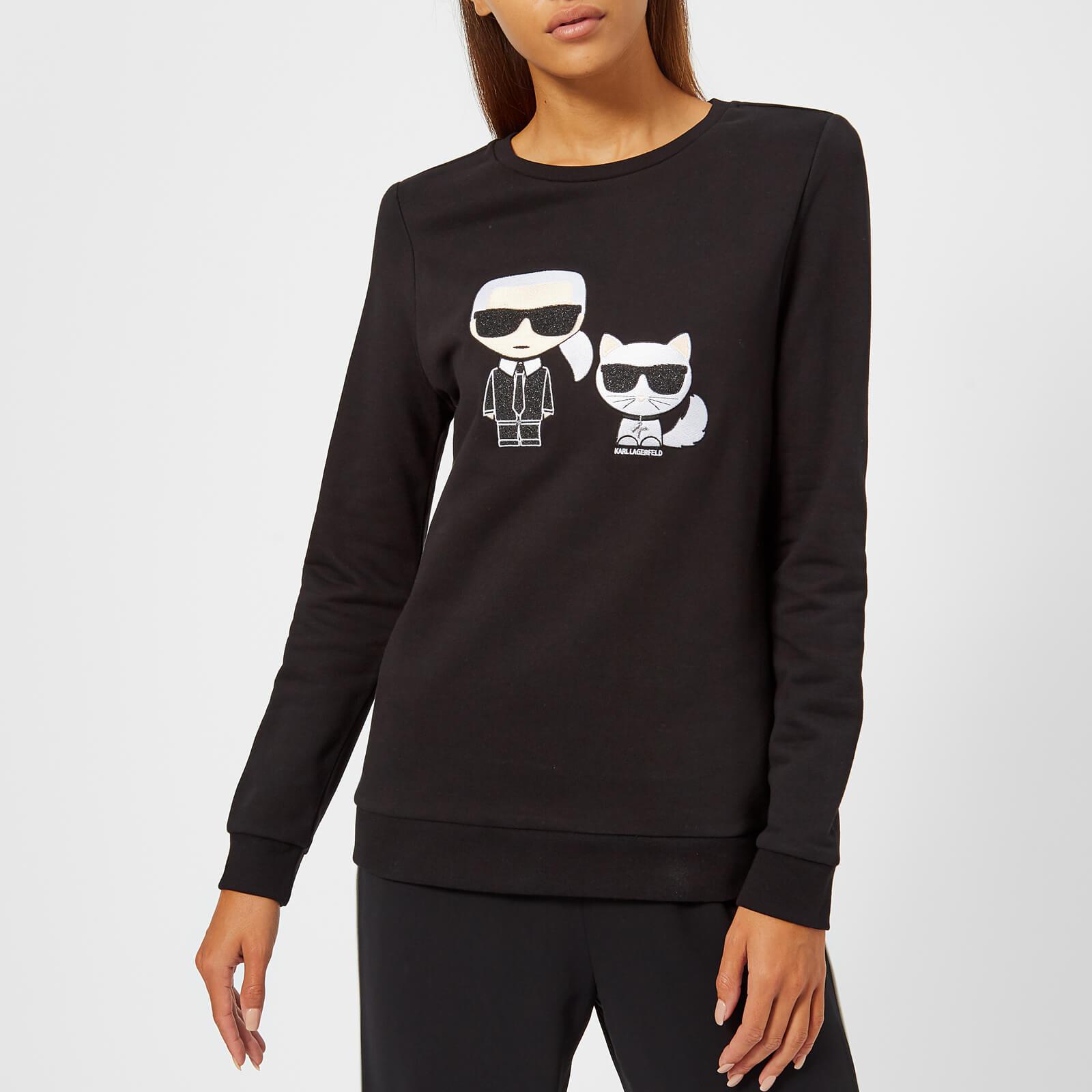 Karl Lagerfeld Women's Karl Ikonik Choupette Sweatshirt Black
