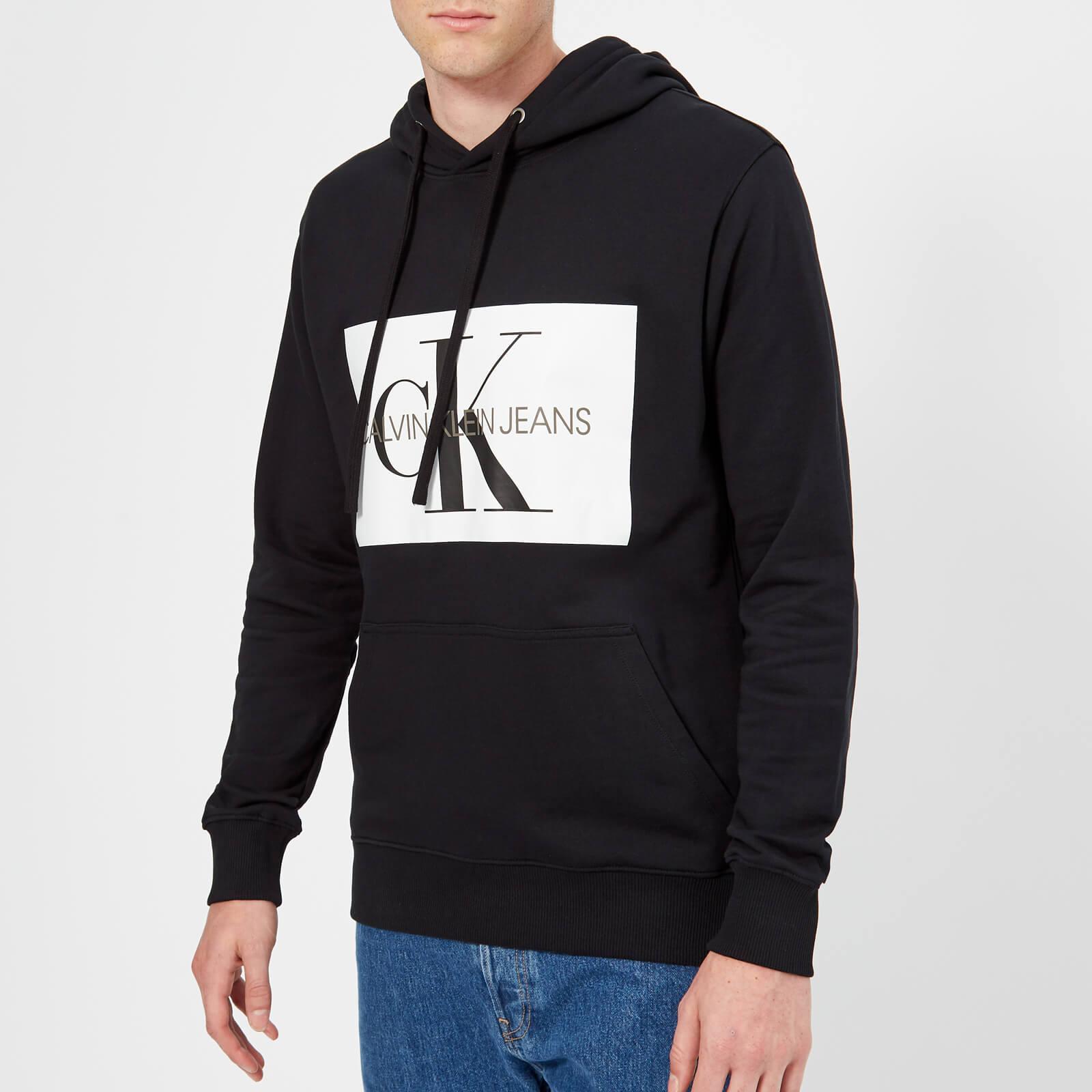 f4838759d0af Calvin Klein Jeans Men s Monogram Box Logo Hoody - CK Black Mens Clothing