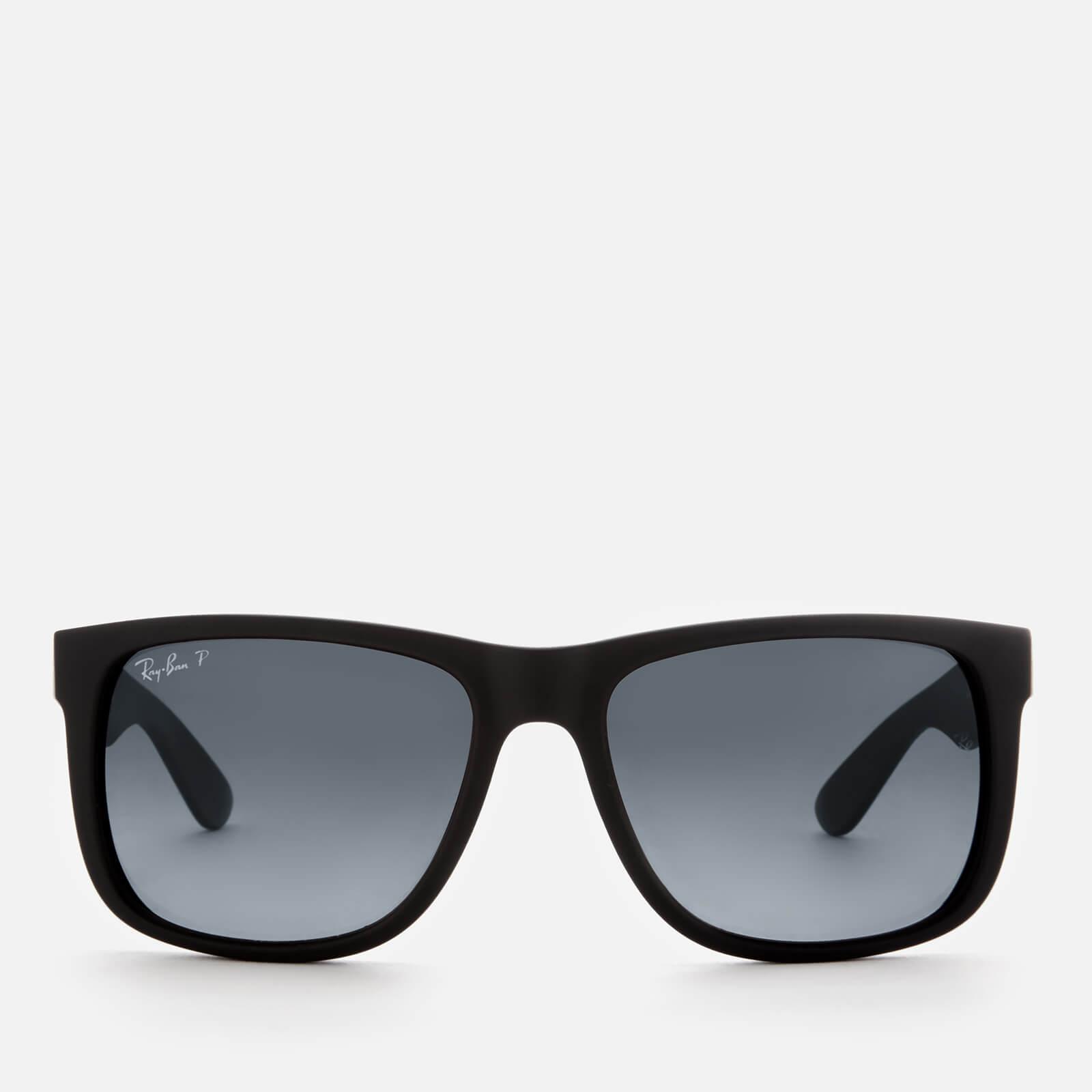 5701e2432f Ray-Ban Men s Justin Square Frame Sunglasses - Black Rubber Mens  Accessories