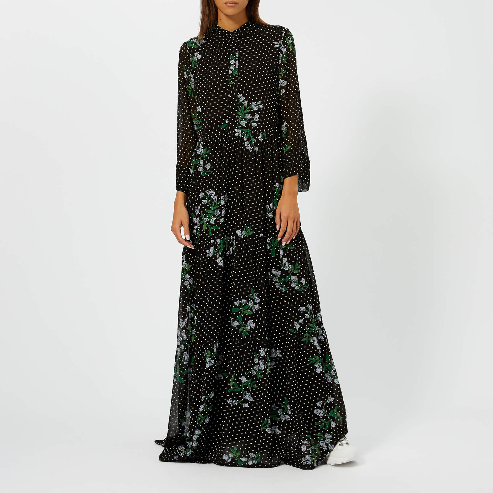e59d0e7657d2 Ganni Women's Rometty Georgette Dress - Black - Free UK Delivery over £50
