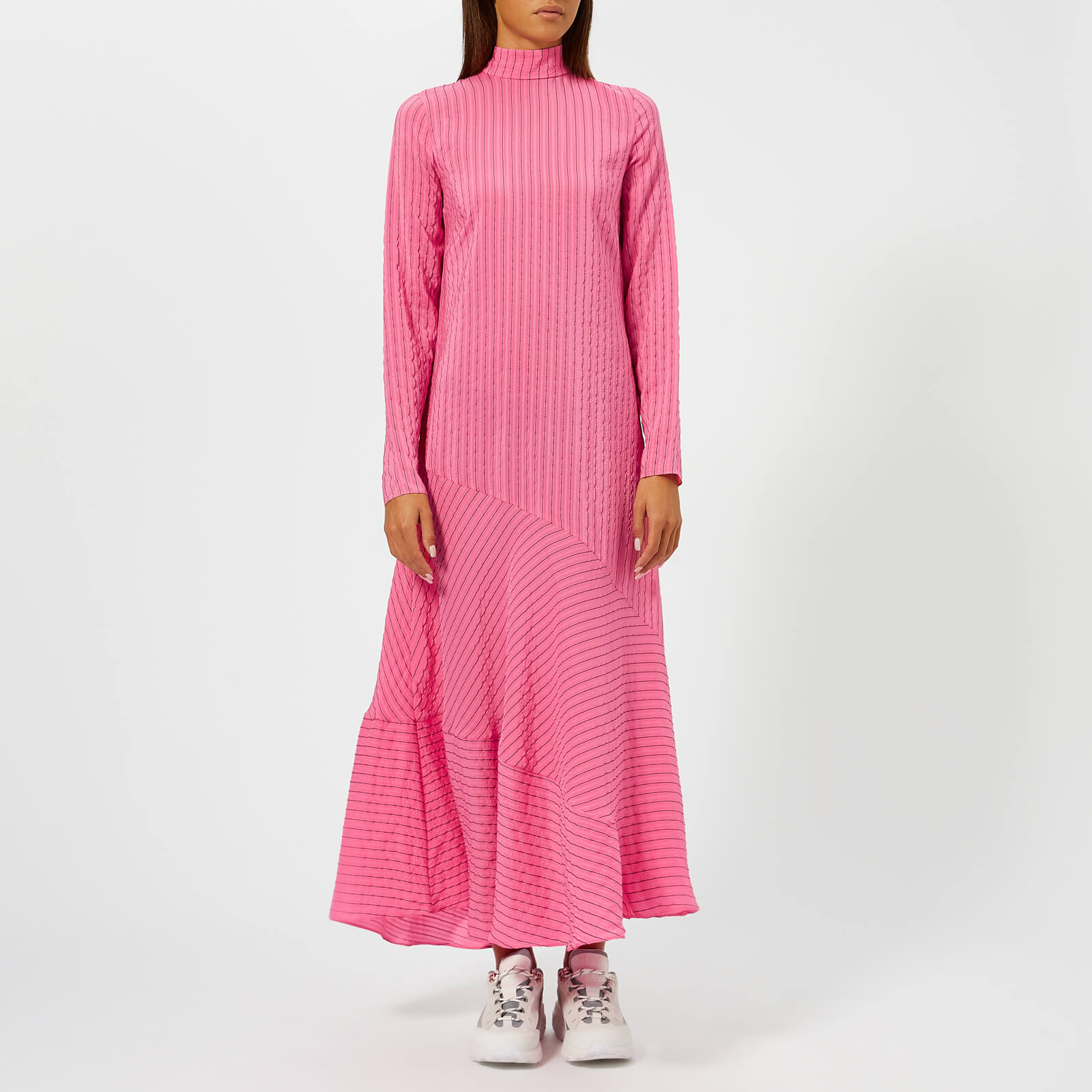 ab249f2ab5f Ganni Women s Lynch Seersucker Dress - Hot Pink - Free UK Delivery over £50