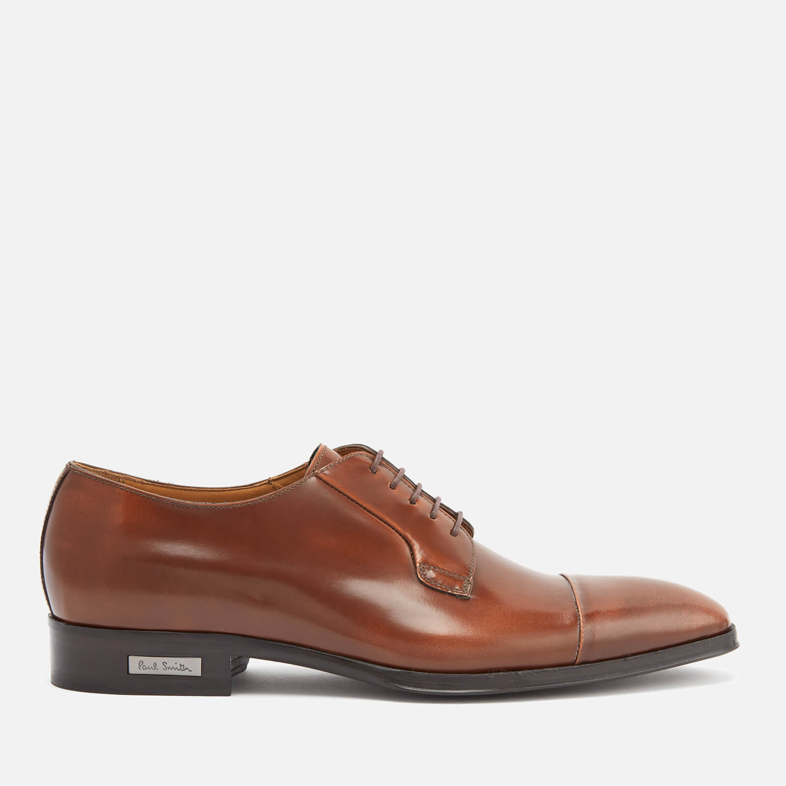 01cd071c9ca Paul Smith Men's Spencer High Shine Leather Toe Cap Derby Shoes - Tan -  Free UK Delivery over £50