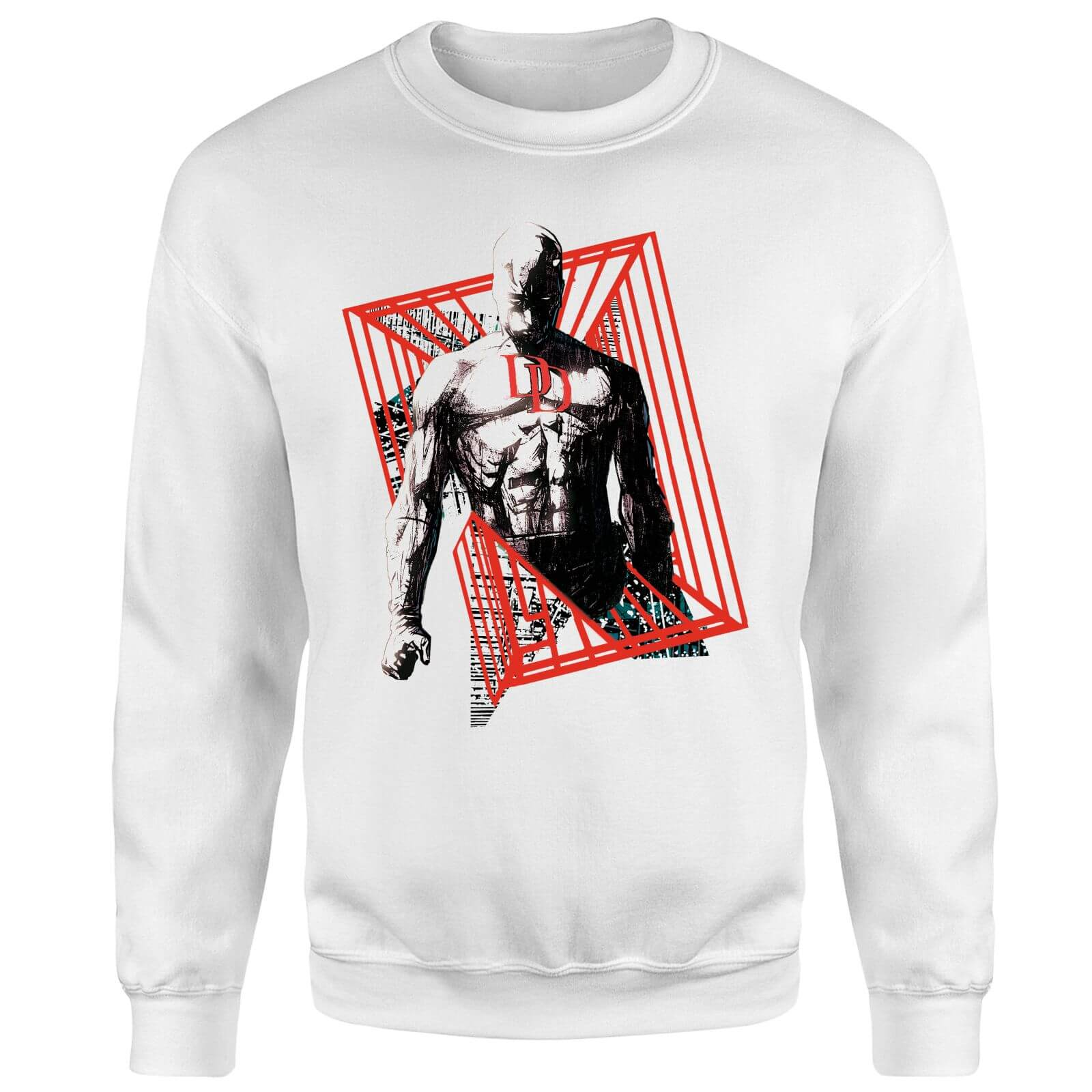 Marvel Knights Daredevil Cage Sweatshirt - White