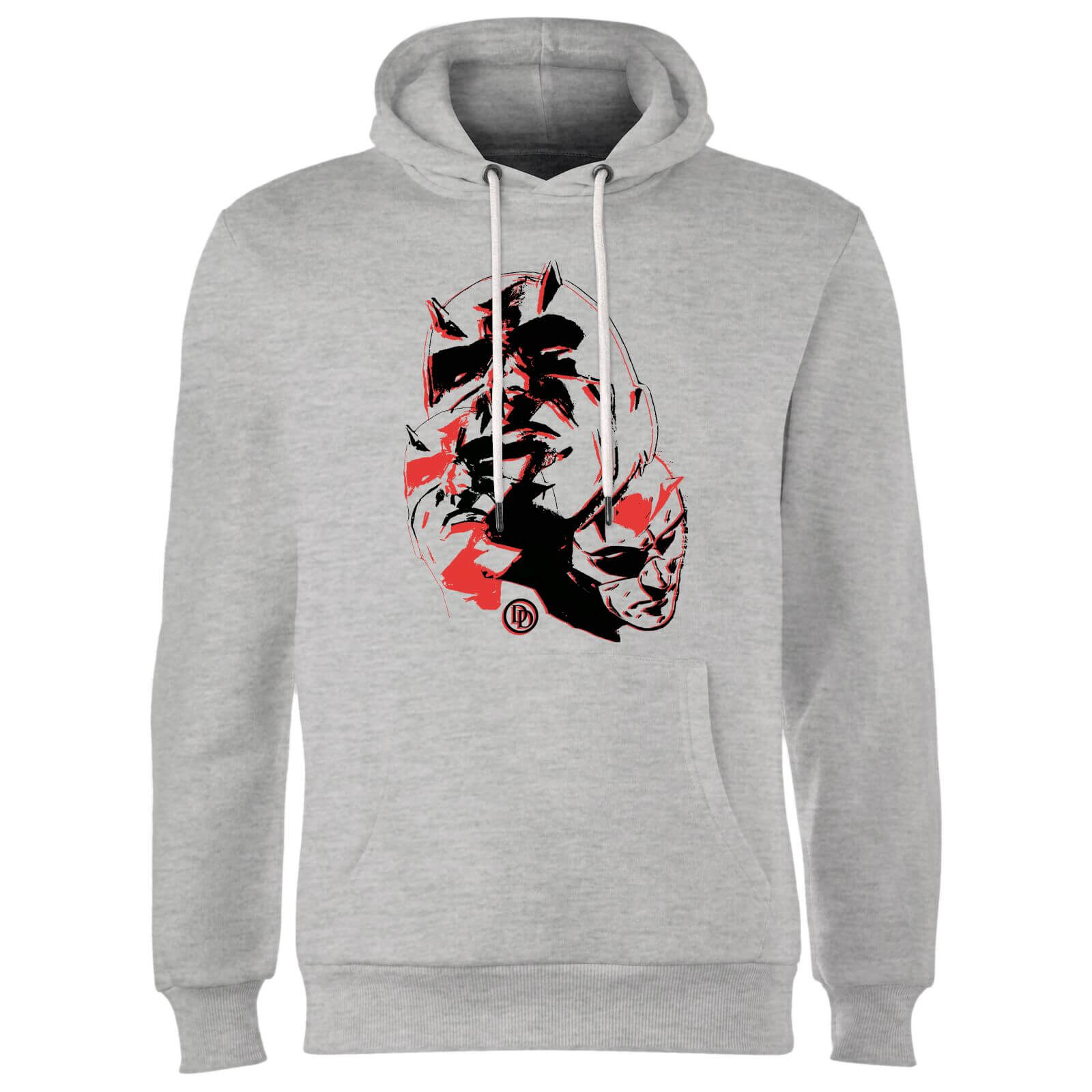Marvel Knights Daredevil Layered Faces Hoodie - Grey