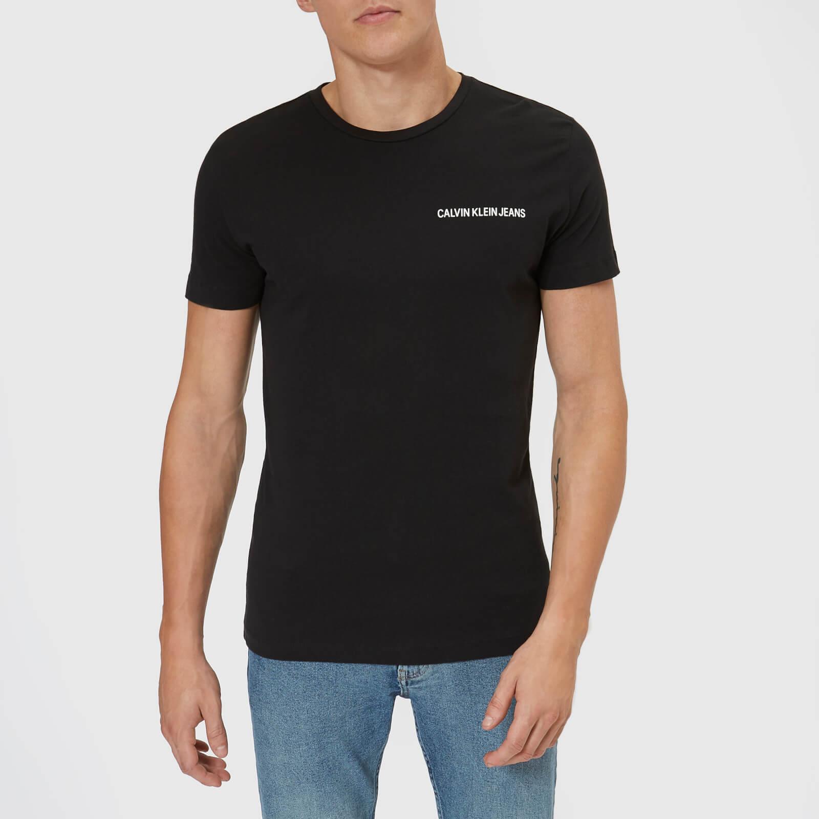 d903150103ed Calvin Klein Jeans Men's Chest Institutional Slim T-Shirt - CK Black  Clothing | TheHut.com