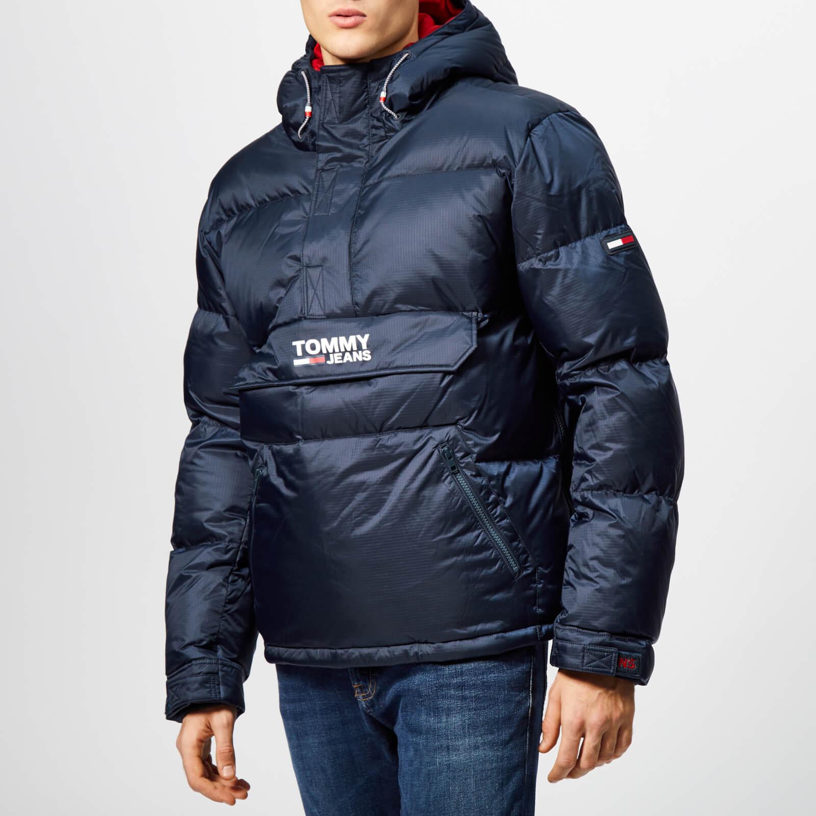 6df657cc9 Tommy Jeans Men's TJM Padded Popover Jacket - Black Iris Clothing ...