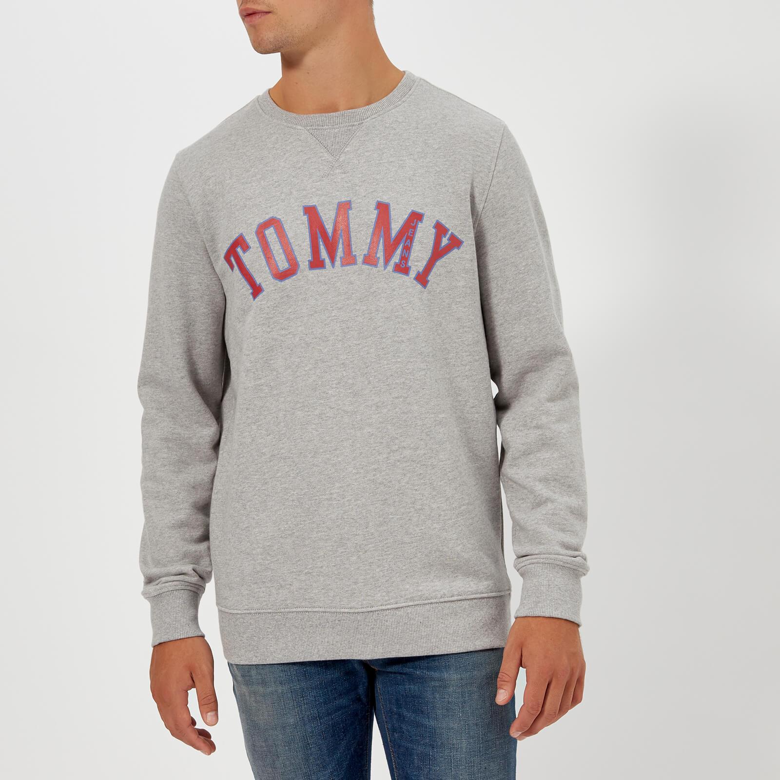 6f9564a9 ... Tommy Jeans Men's TJM Essential Graphic Sweatshirt - Light Grey Heather