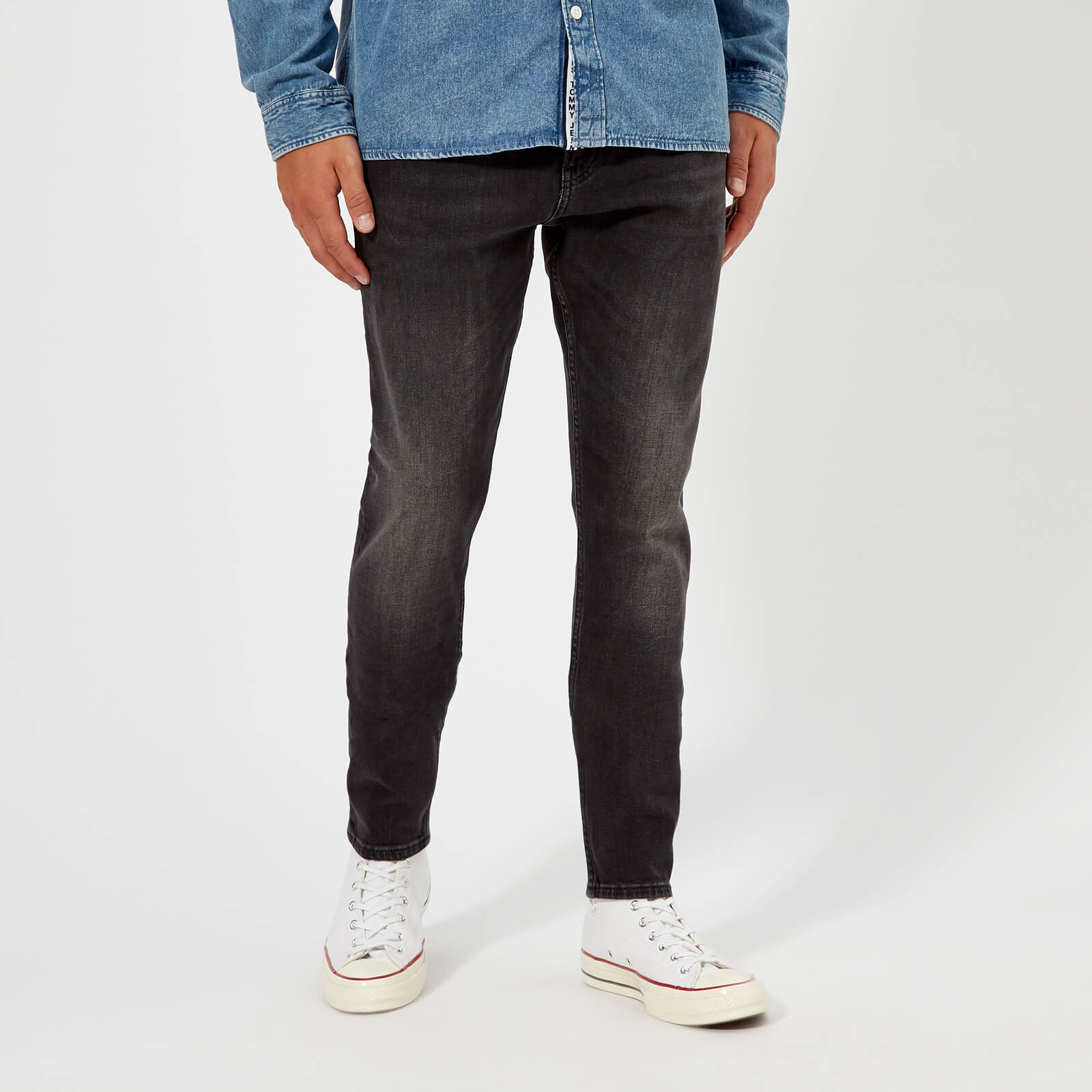 013897a73 Tommy Jeans Men's Modern Tapered TJ 1988 Jeans - Wooden Black Comfort Mens  Clothing | TheHut.com