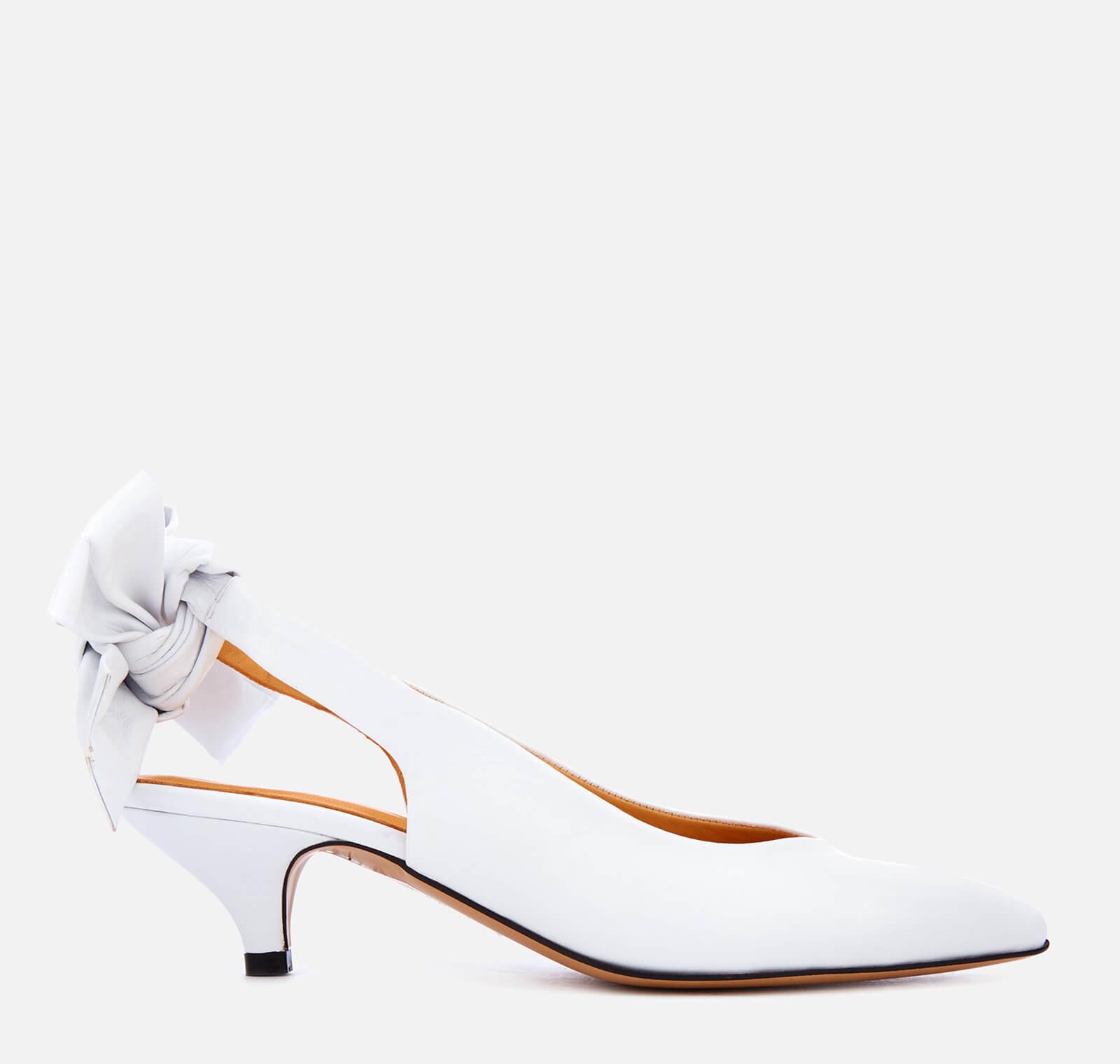 914237f9aa Ganni Women's Sabine Sling Back Kitten Heels - Bright White