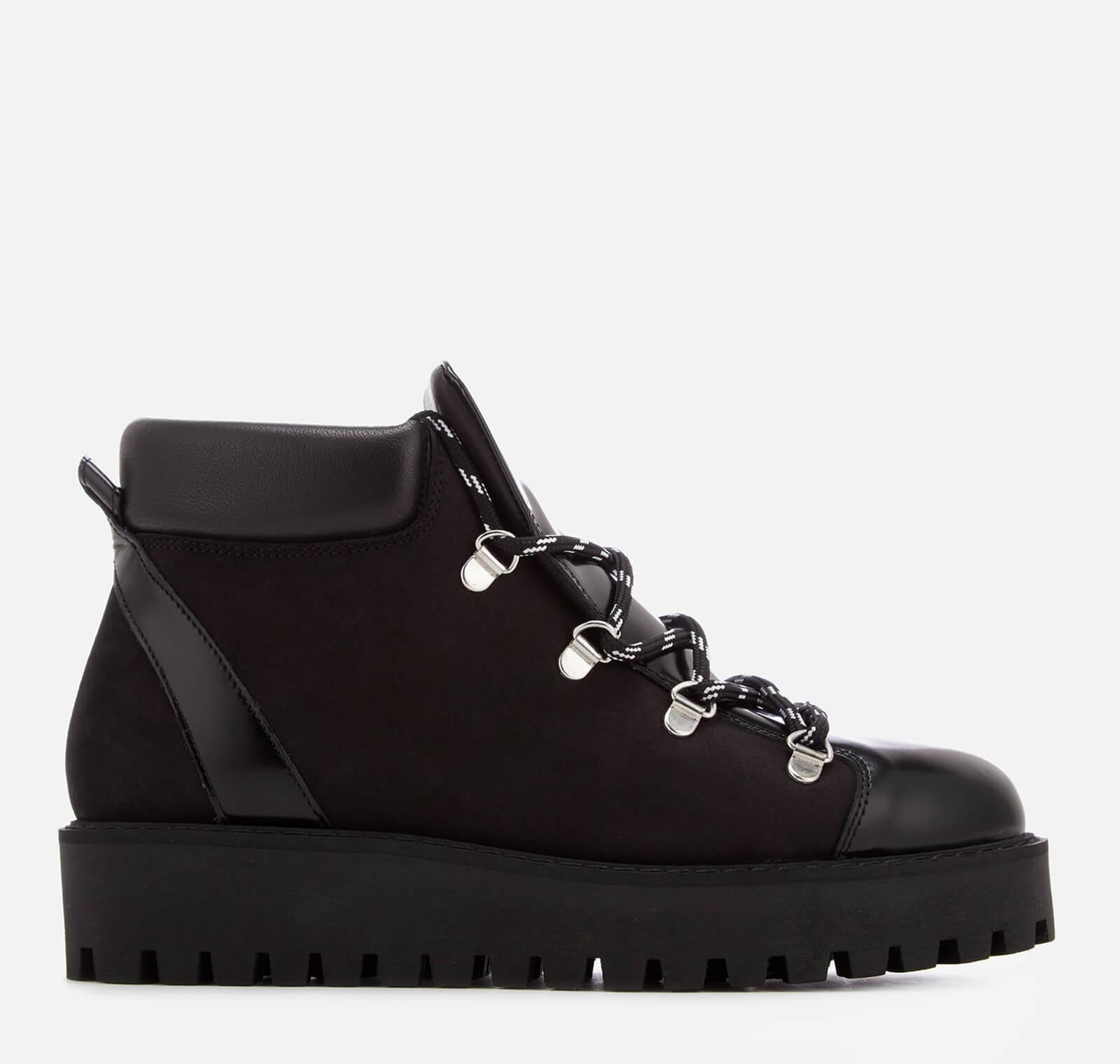 dba71cc277f Ganni Women's Alma Hiking Style Flat Boots - Black