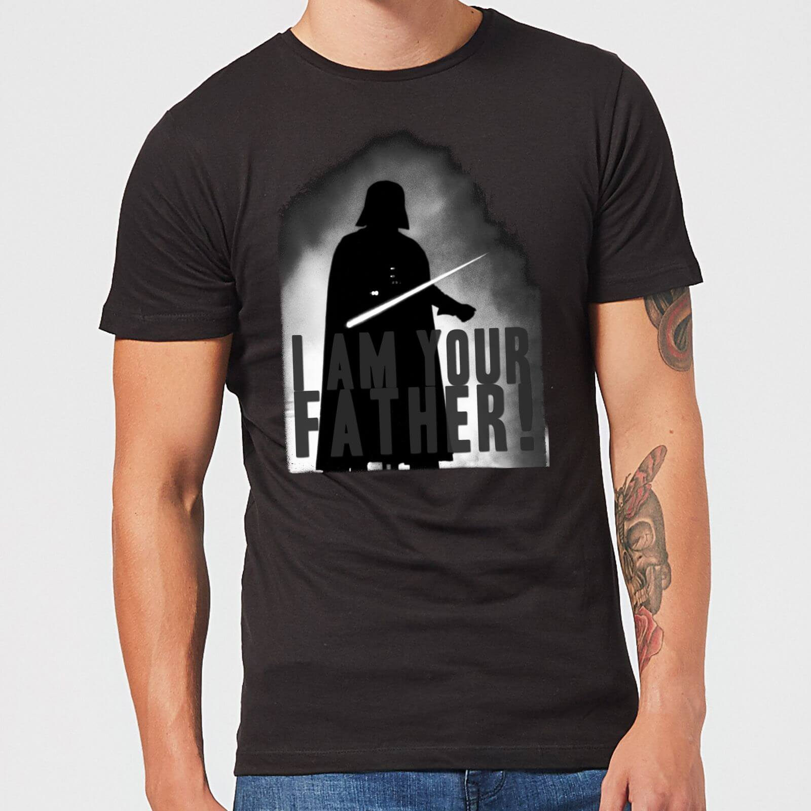 05c4e80a Star Wars Darth Vader I Am Your Father Silhouette Men's T-Shirt - Black  Clothing | Zavvi