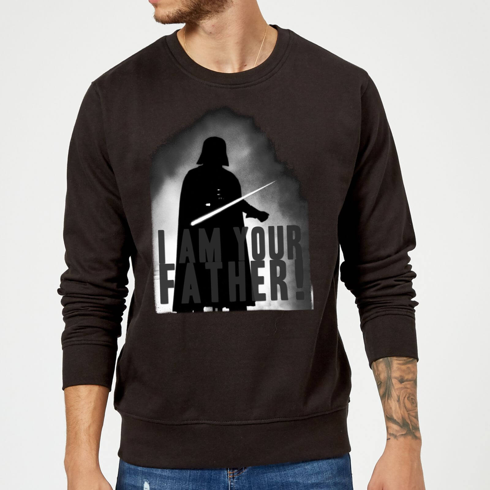 1d56894b Star Wars Darth Vader I Am Your Father Silhouette Sweatshirt - Black | IWOOT