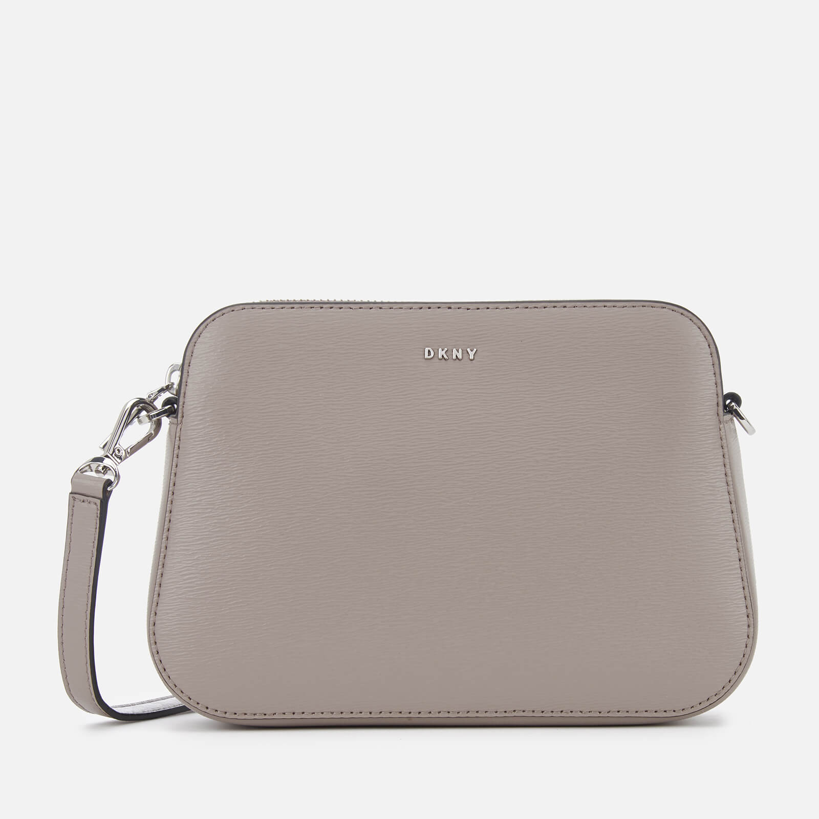66cd0843f6e DKNY Women s Bryant Centre Zip Cross Body Bag - Warm Grey Womens  Accessories