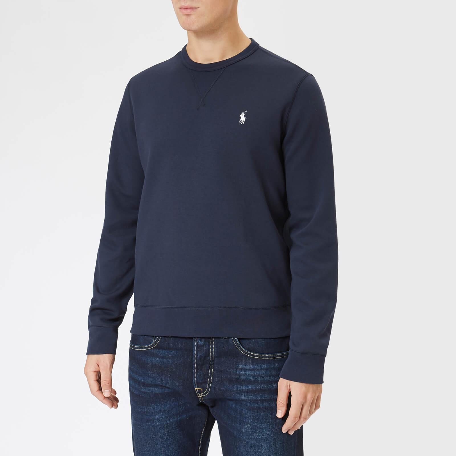 ny hög kvalitet mysig färsk officiell butik Polo Ralph Lauren Men's Double Knit Sweatshirt - Aviator Navy ...