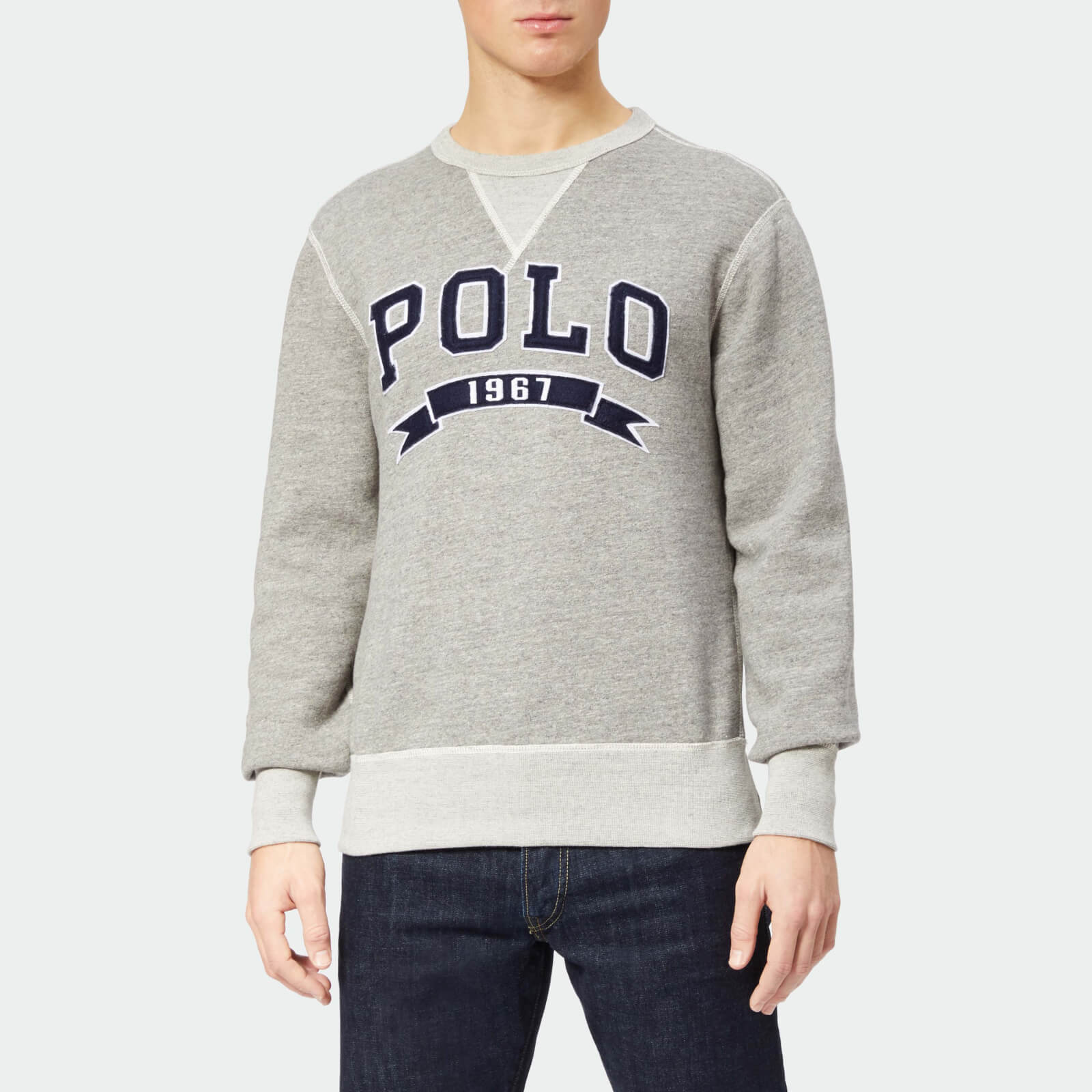 09fb9ff33c Polo Ralph Lauren Men s Large Polo Crew Neck Sweatshirt - Battalion Heather  - Free UK Delivery over £50
