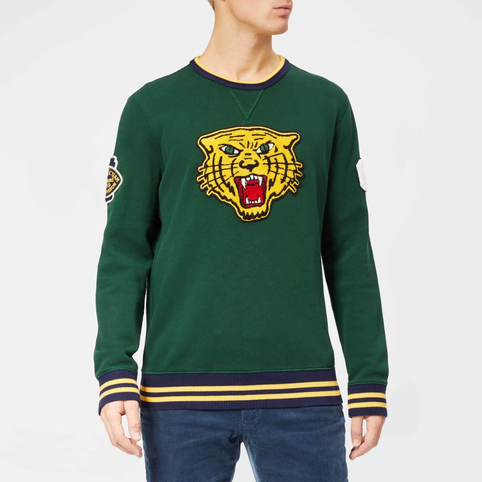 fa70c3e7830 Polo Ralph Lauren Men's Tiger Crew Neck Sweatshirt - College Green