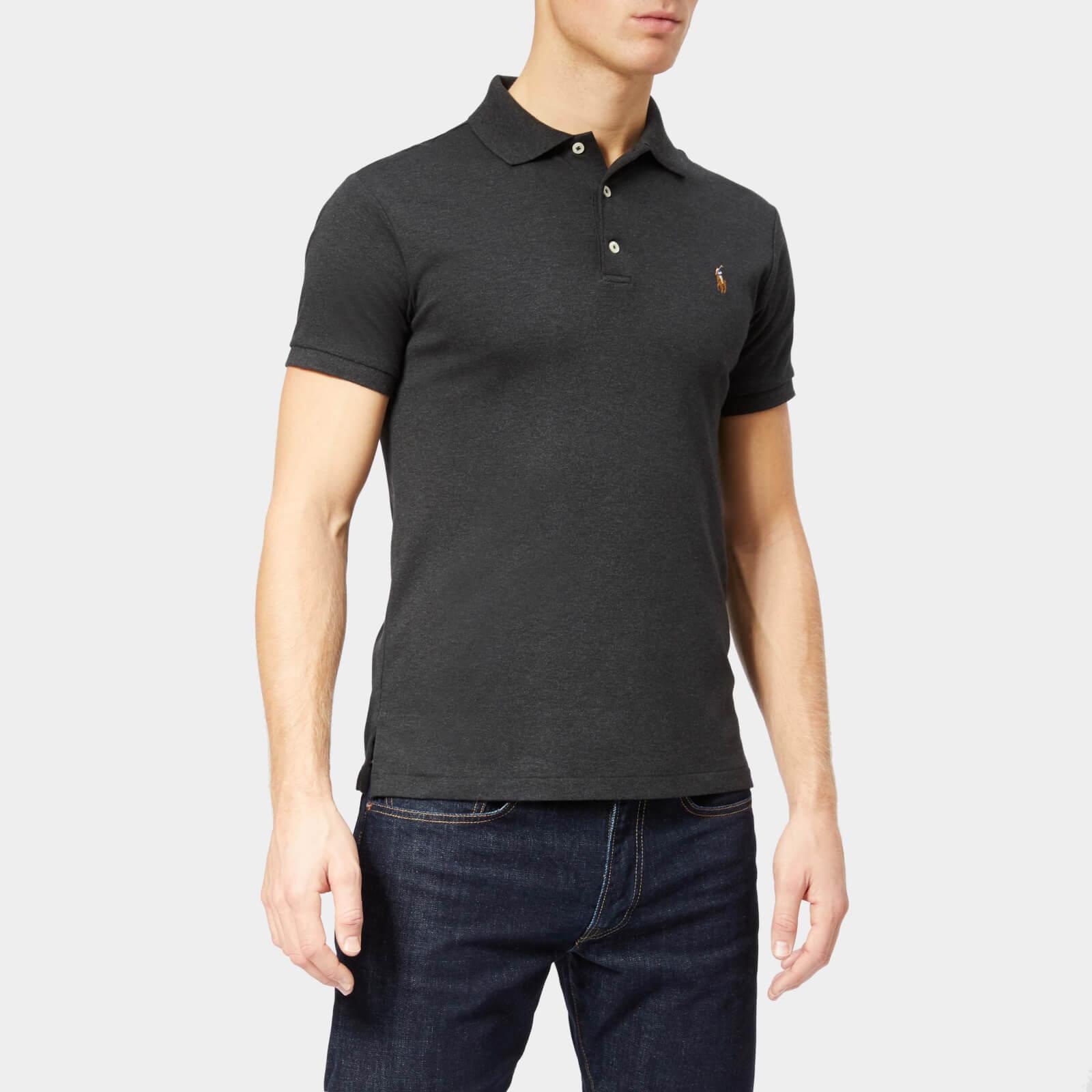 980fc6283cb9 Polo Ralph Lauren Men s Pima Short Sleeve Polo Shirt - Dark Granite Heather  - Free UK Delivery over £50