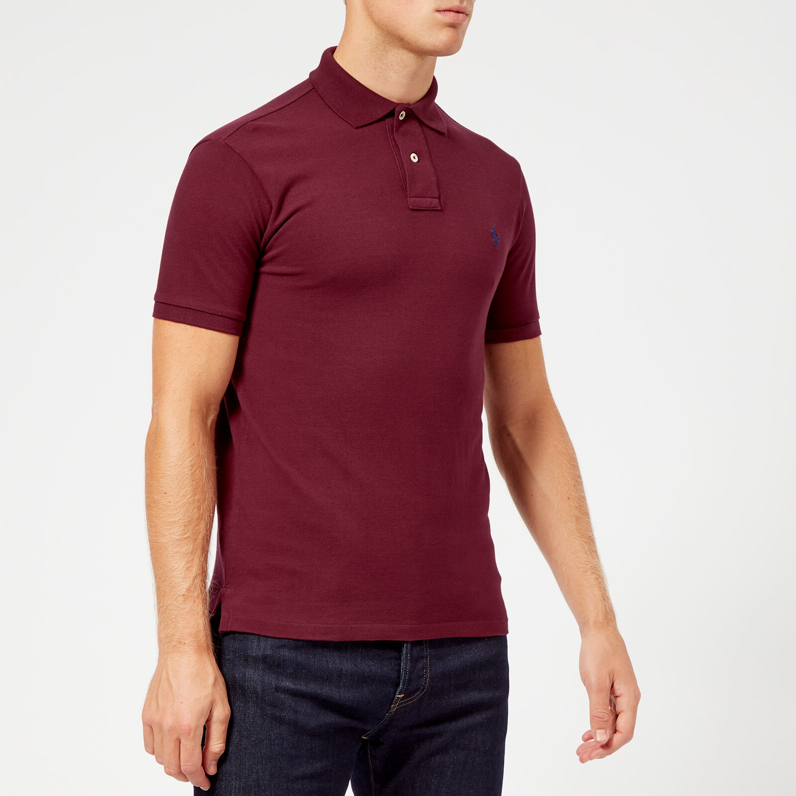 007f07d4 Polo Ralph Lauren Men's Short Sleeve Slim Fit Polo Shirt - Classic Wine -  Free UK Delivery over £50