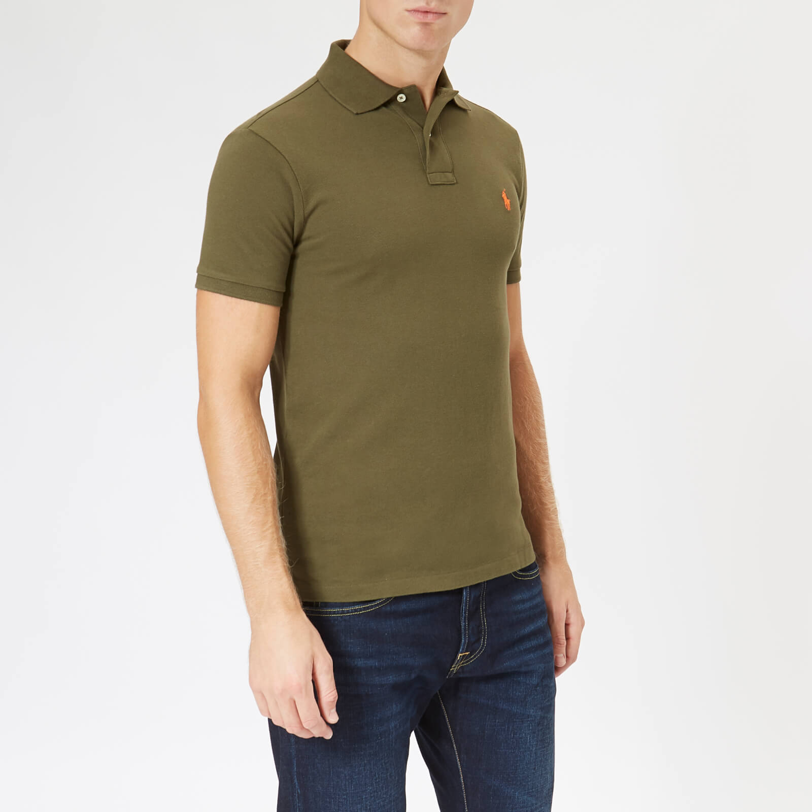 e55c75e094d9 Polo Ralph Lauren Men s Slim Fit Short Sleeve Polo Shirt - Expedition Olive  - Free UK Delivery over £50