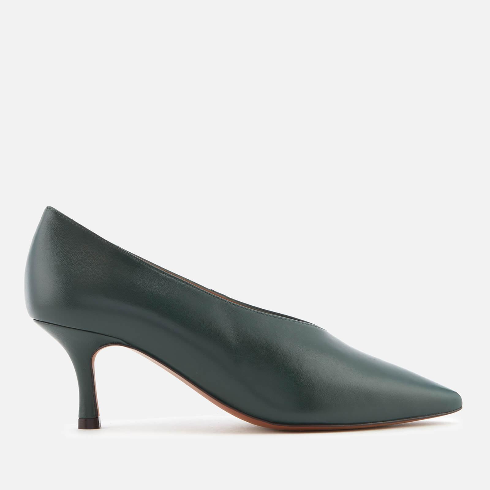 58195e60f1 Whistles Women's Zurie Kitten Heel Court Shoes - Green Clothing   TheHut.com