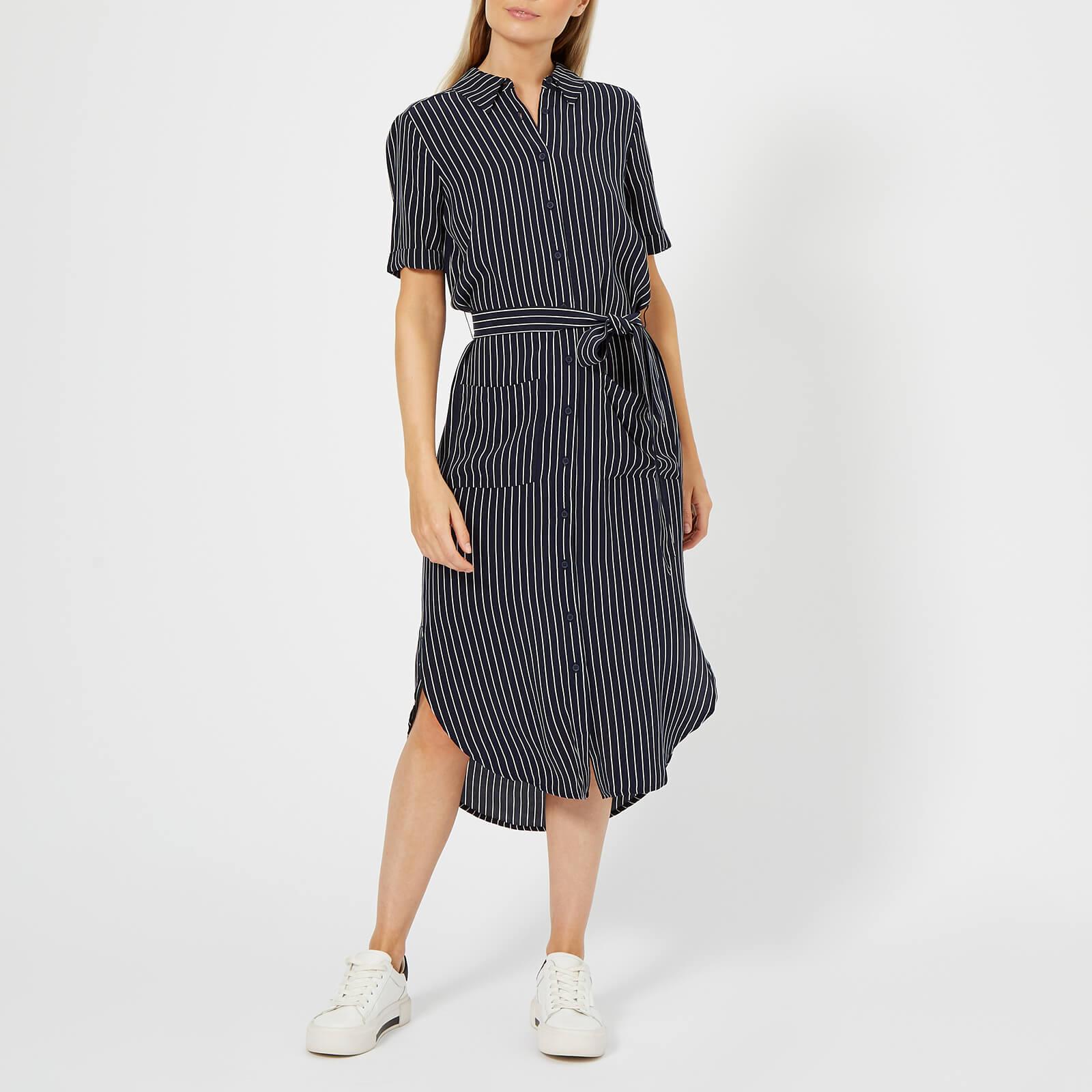 849e296deee Whistles Women s Montana Longline Stripe Shirt Dress - Navy Multi Womens  Clothing