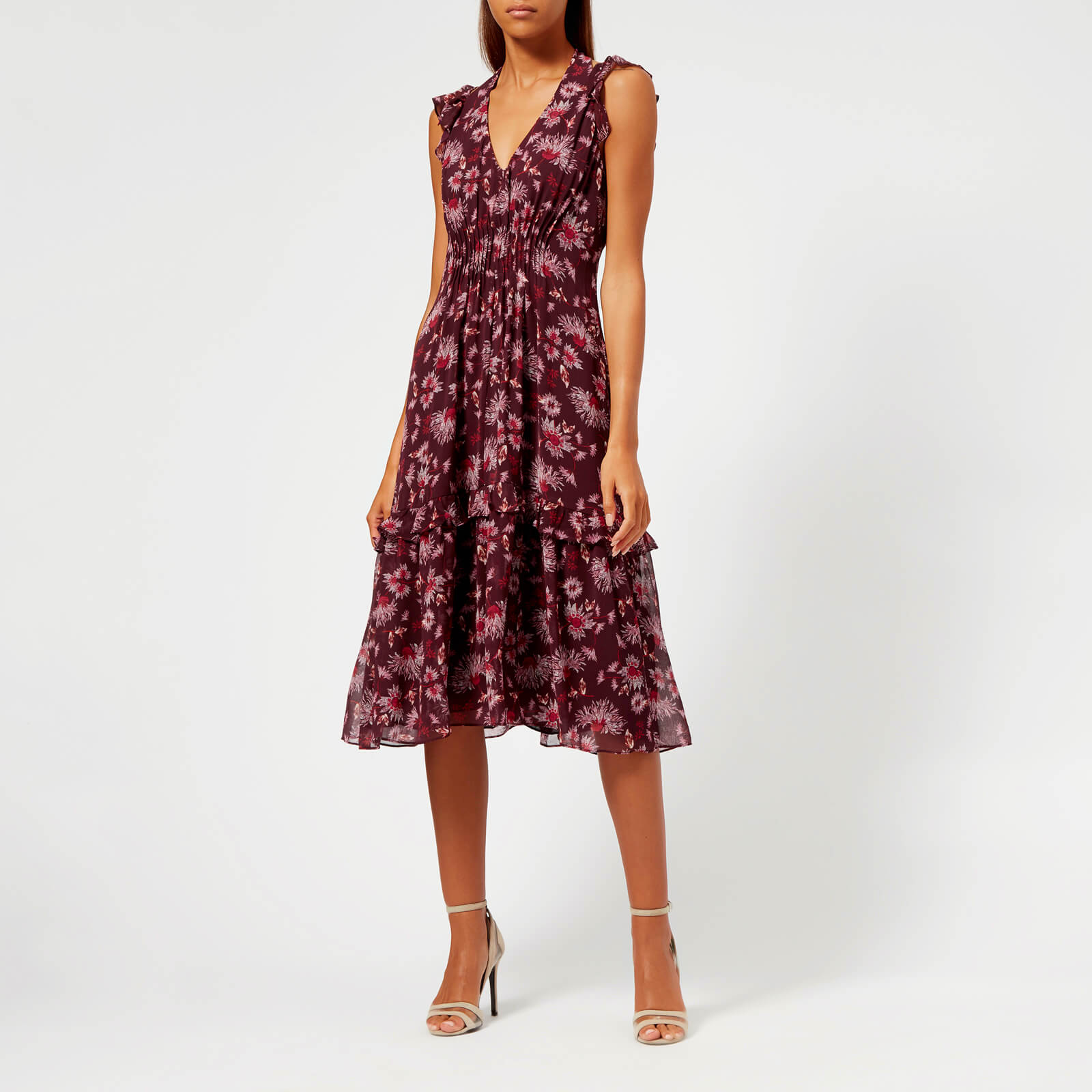 47c4b5dae17 Whistles Women s Pitti Print Double Strap Dress - Pink Multi Womens  Clothing