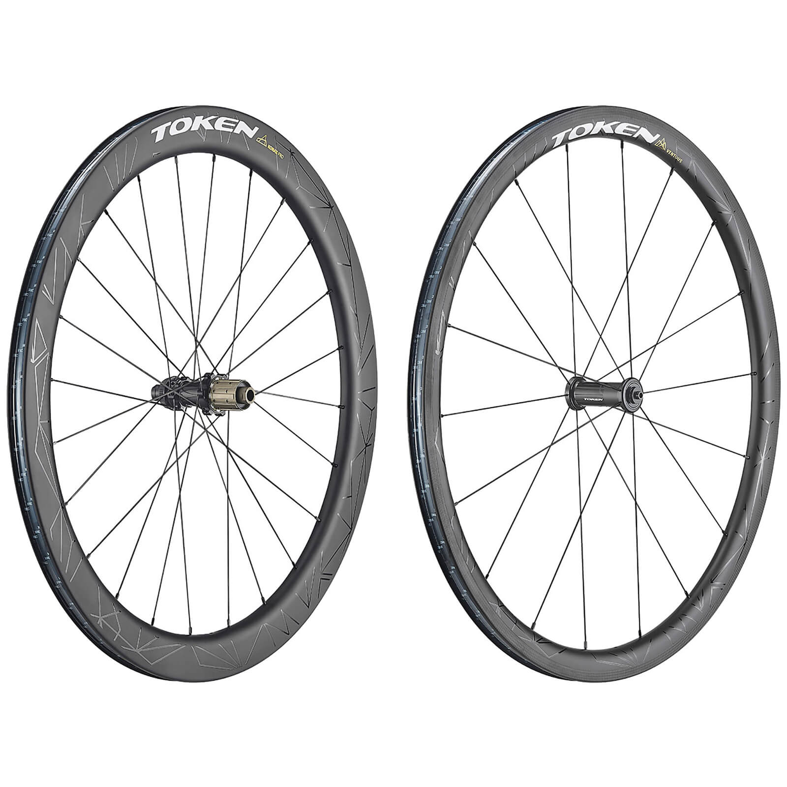 Token Ventous and Konax Pro Carbon Tubeless Ready Wheelset - Shimano