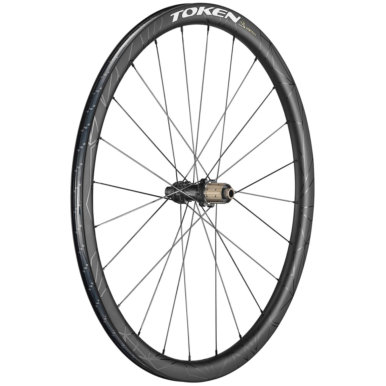 Token Ventous Disc Prime Carbon Tubeless Ready Wheelset - Shimano