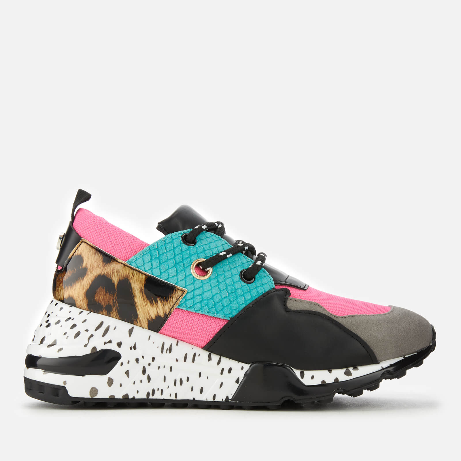 385bf830eae Steve Madden Women s Cliff Running Style Trainers - Bright Multi Womens  Footwear